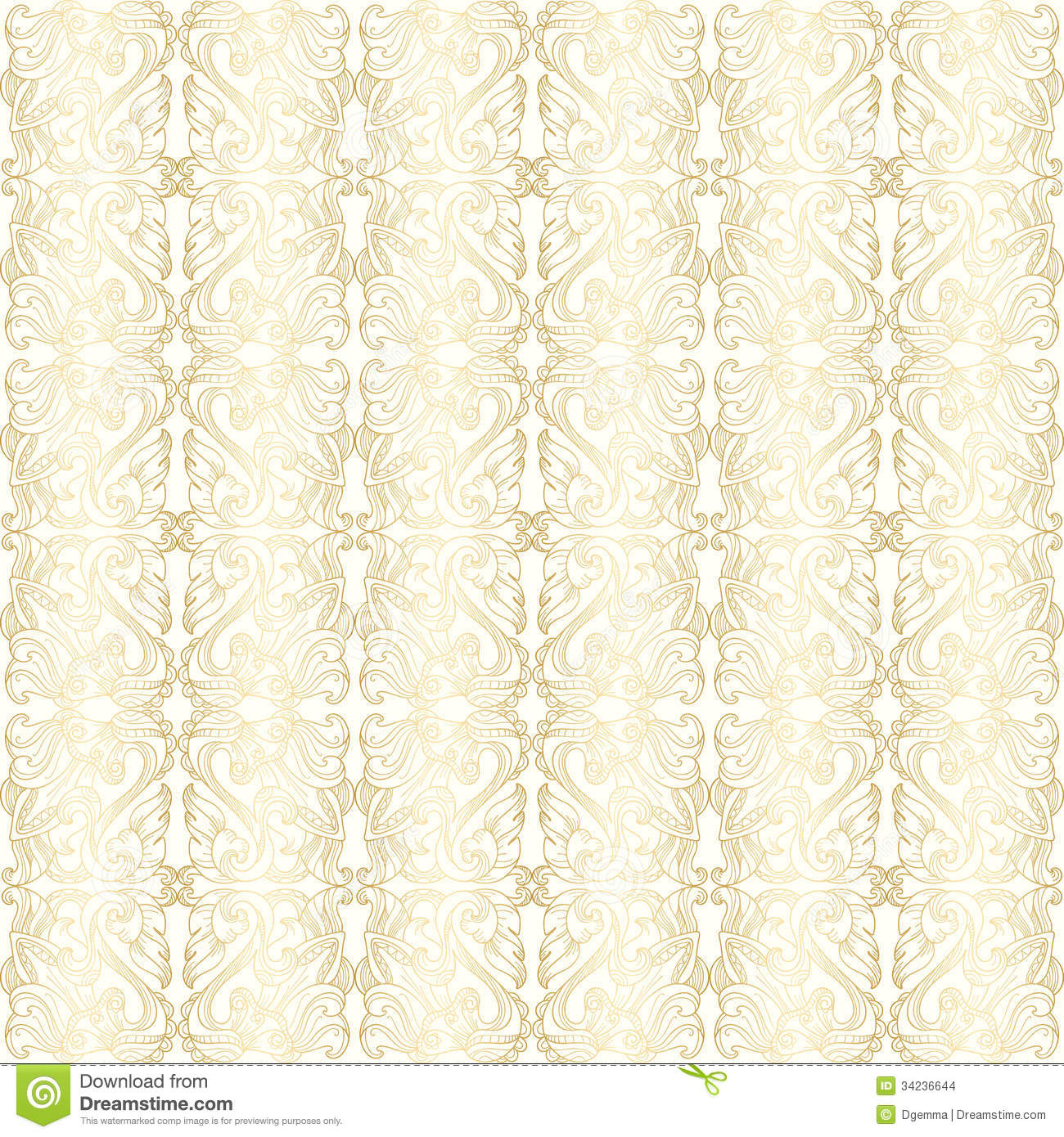 white and gold floral wallpaper - photo #48