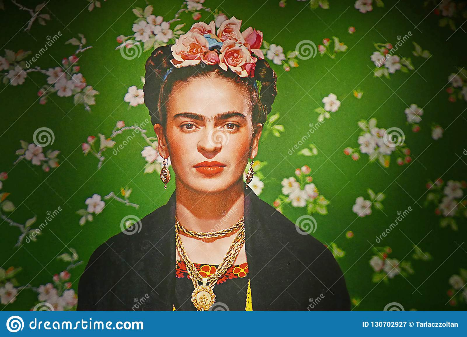 Frida Kahlo exhibition in Budapest Hungary in the autumn of 2018. Masterpieces from the Museum Dolores Olmedo collection in Mexico City.