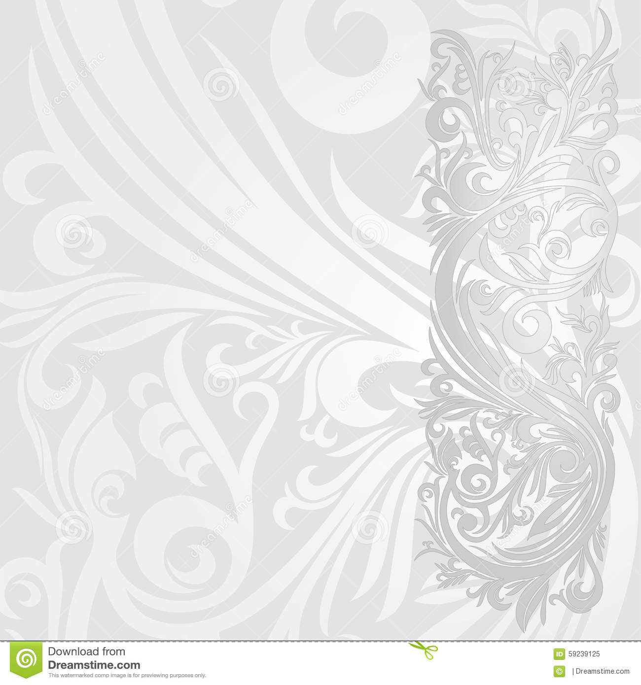 Wallpaper Or Invitation Card Silver Abstract Stock