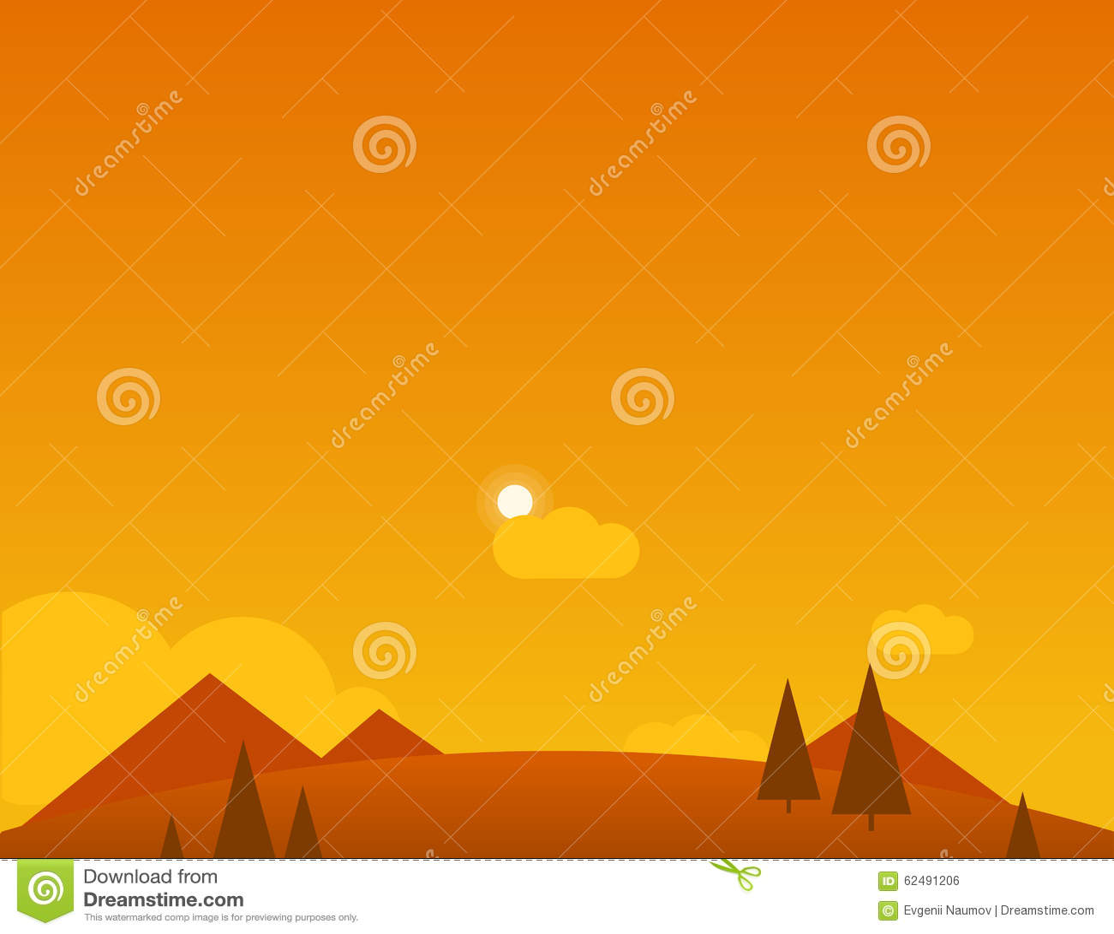 Wallpaper Landscape Of Desert Mountains And Sun