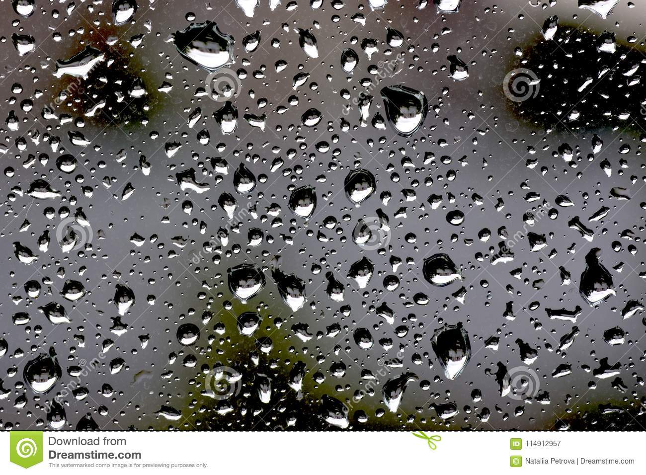 Wallpaper With Macro Water Drops On A Grey Glass Background Stock Image Image Of Glass Pattern 114912957 Macro drops blur glare colorful glass