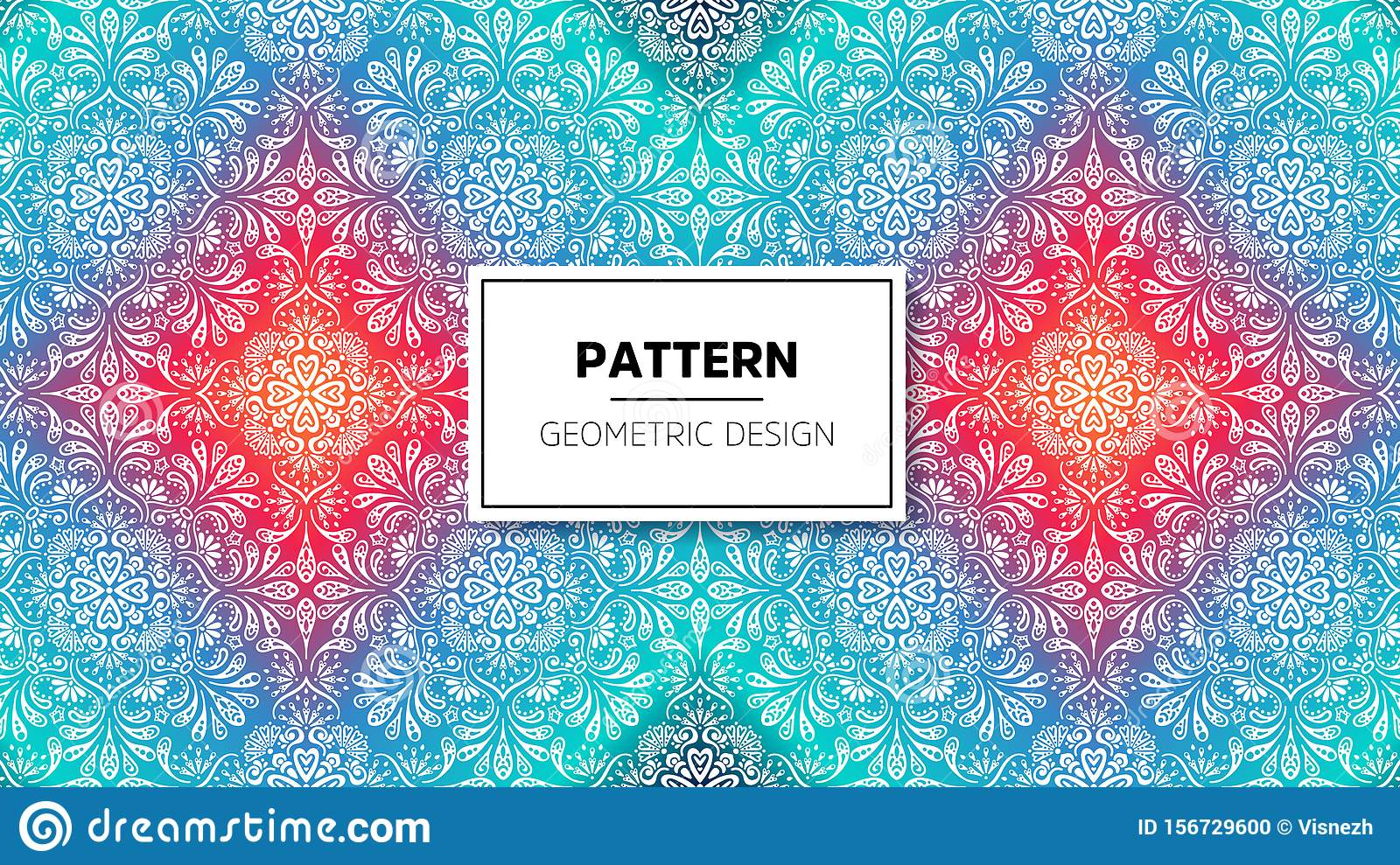 Wallpaper With Mandala Pattern Vector Background For Yoga Meditation Poster Stock Vector Illustration Of Ornament Coloring 156729600