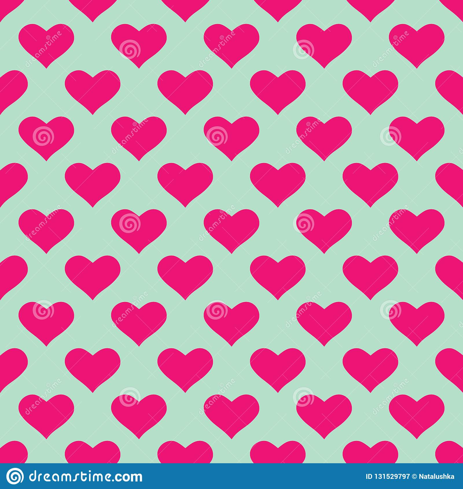 Wallpaper With Pink Hearts Stock Vector Illustration Of