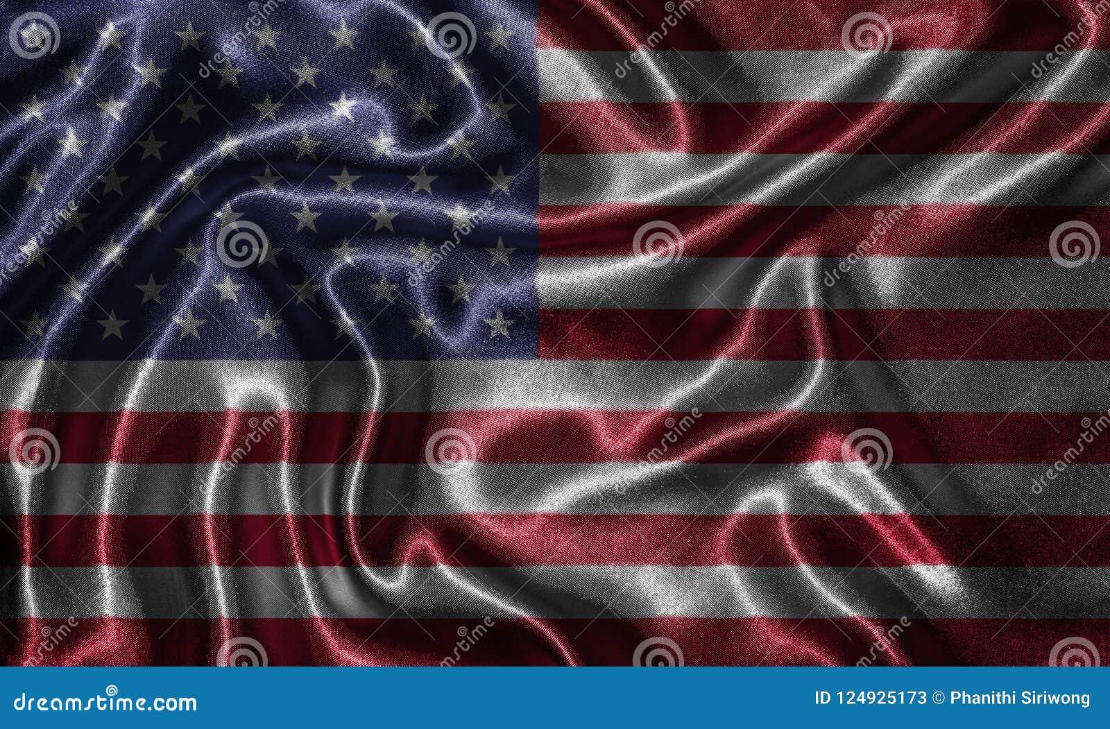 Wallpaper Por La Bandera De Estados Unidos Y La Bandera Que Agita