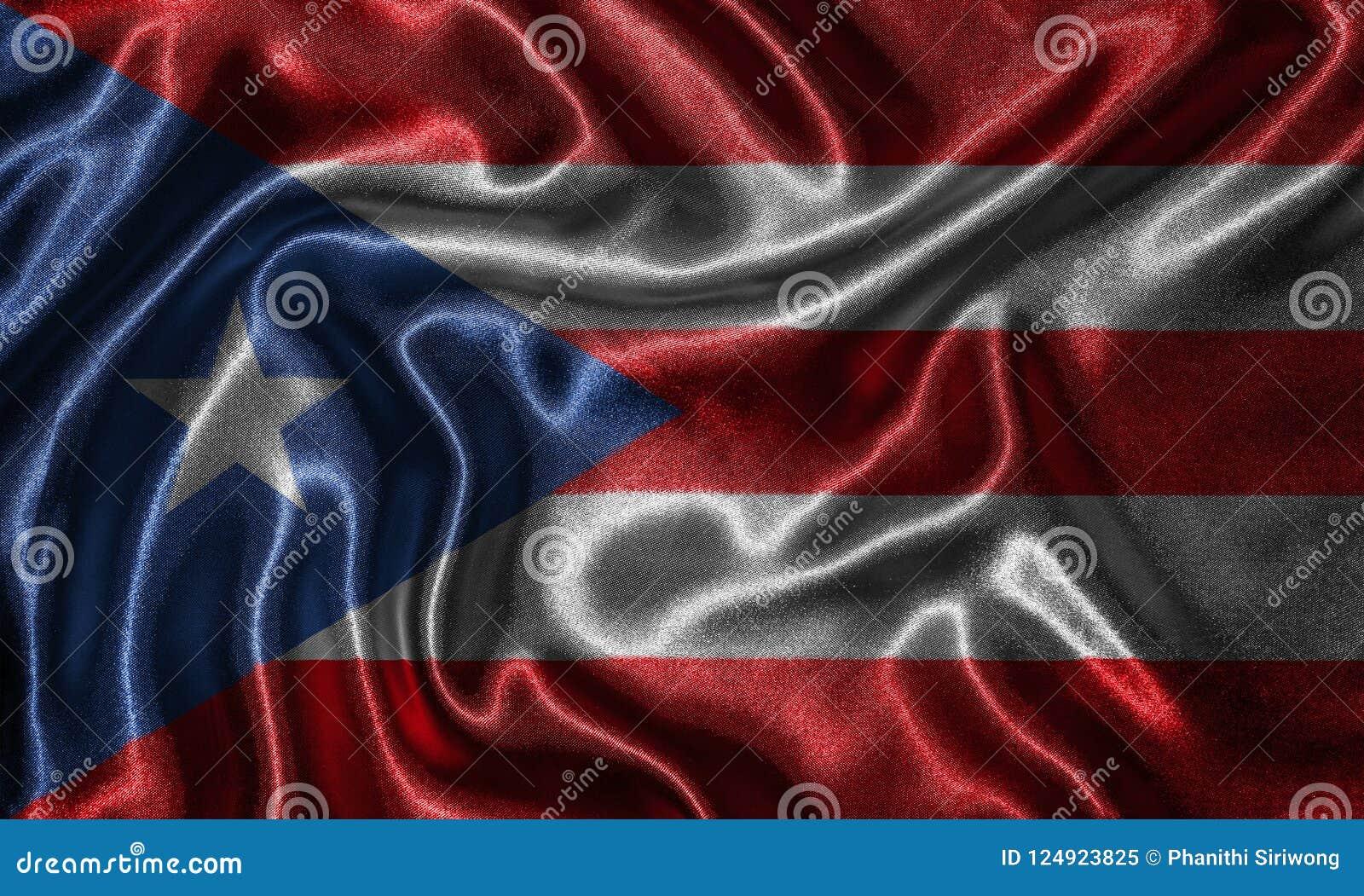 Wallpaper Por La Bandera De Puerto Rico Y La Bandera Que Agita Por