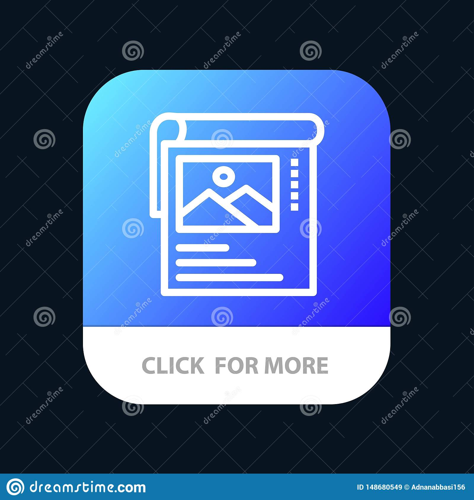 Wallpaper Poster Brochure Mobile App Button Android And
