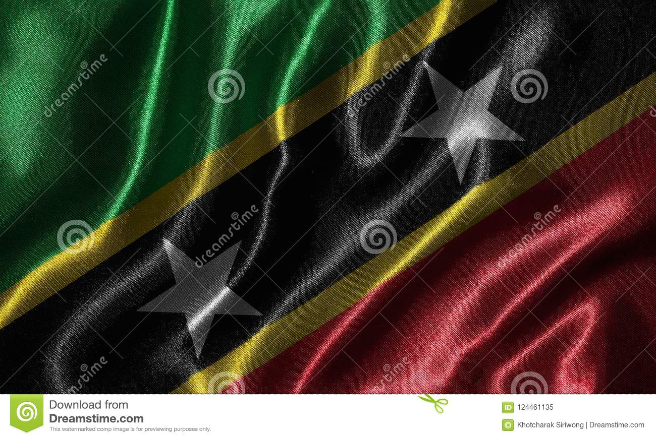 wallpaper by saint kitts and nevis flag and waving flag by fabri