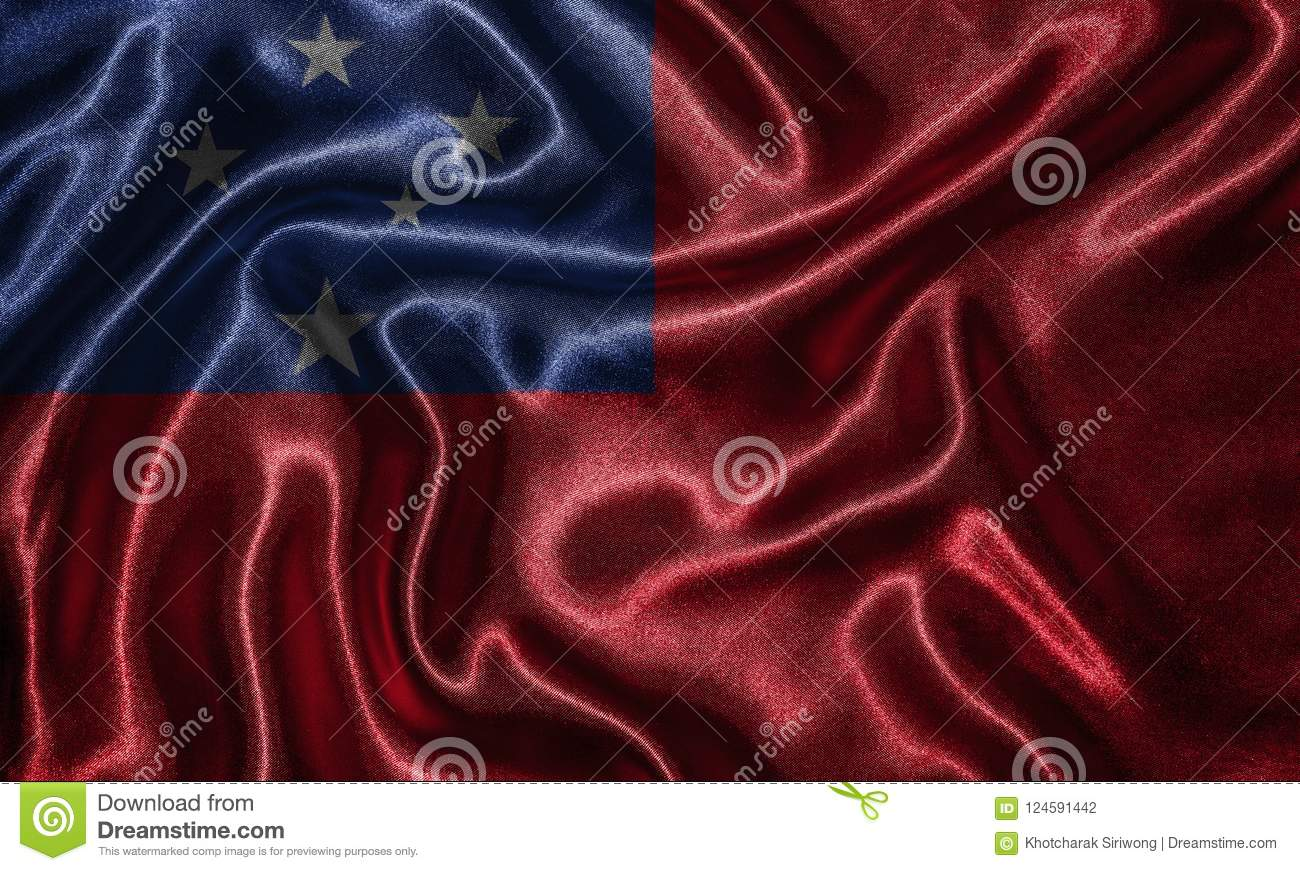 Download Wallpaper By Samoa Flag And Waving Fabric Stock Photo