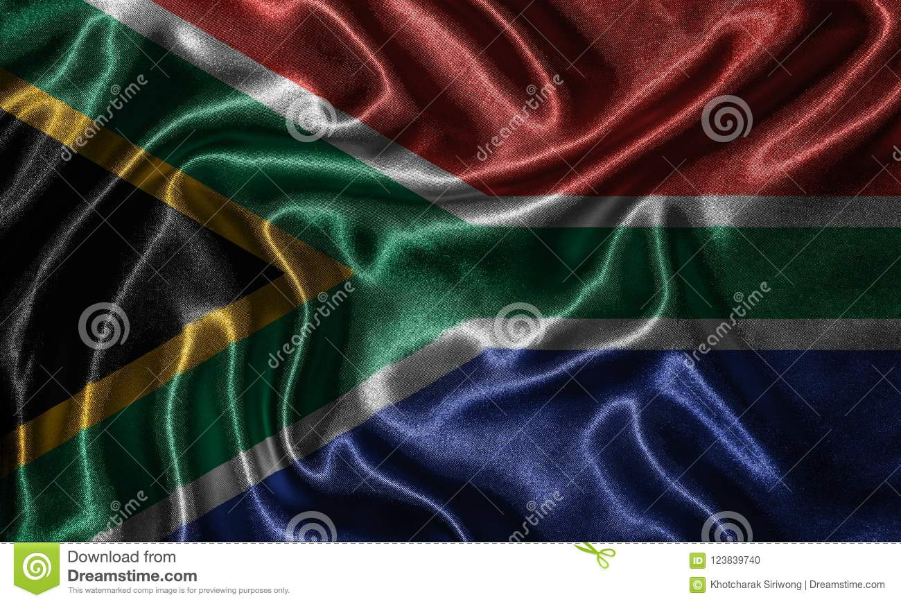 Wallpaper by South Africa flag and waving flag by fabric.