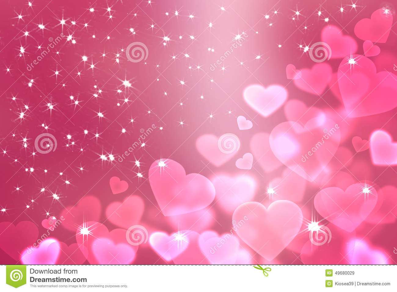 Light Pink Heart Bokeh For Love Background Stock Photo - Image ...
