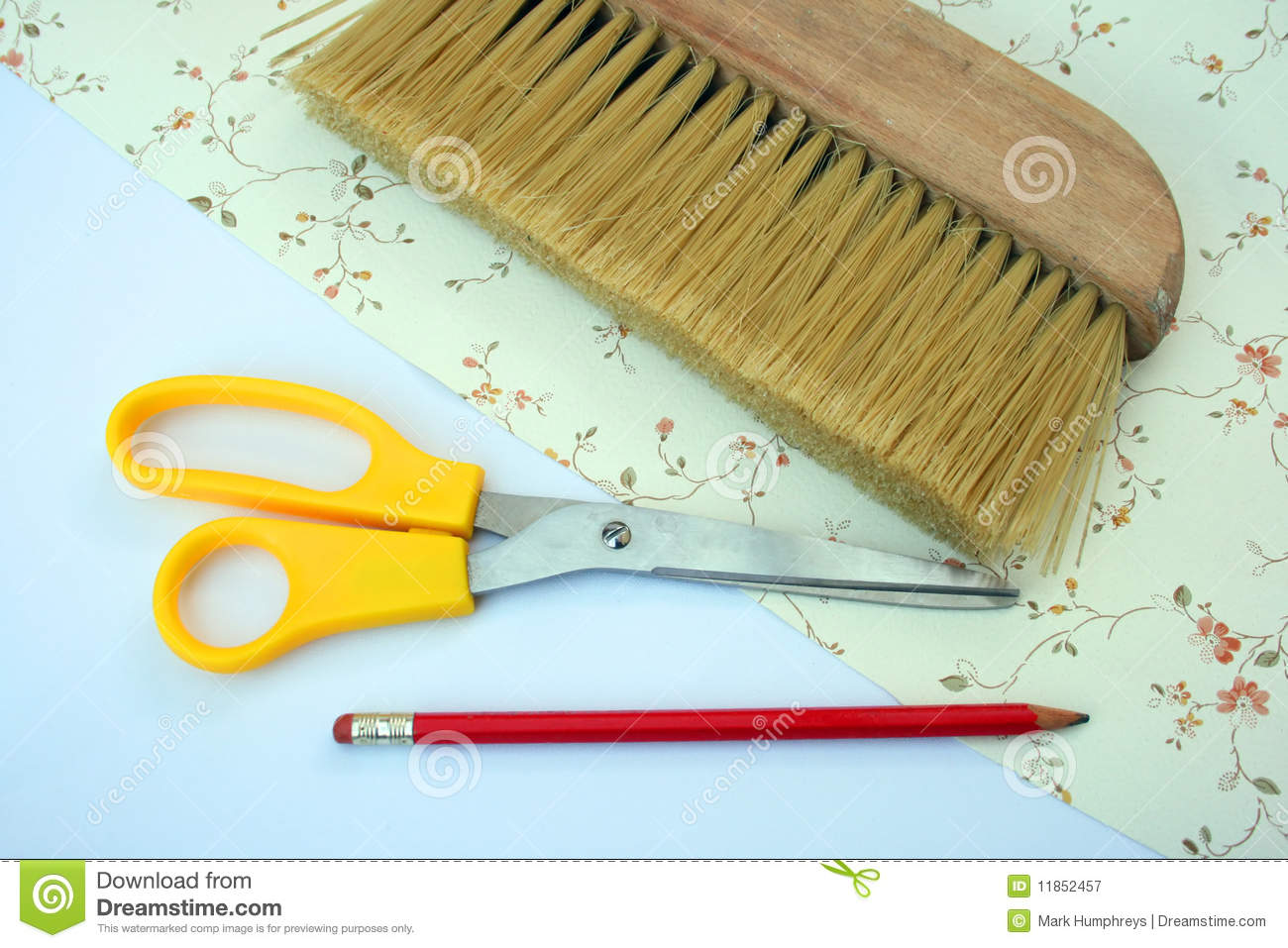 wallpapering tools royalty free stock photography image