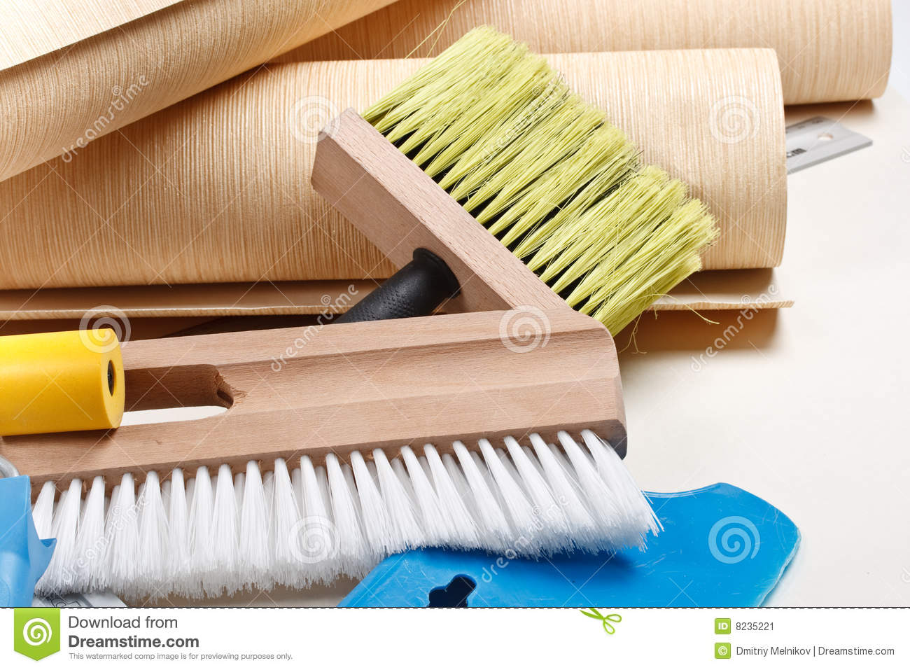 wallpapering tools stock image image 8235221