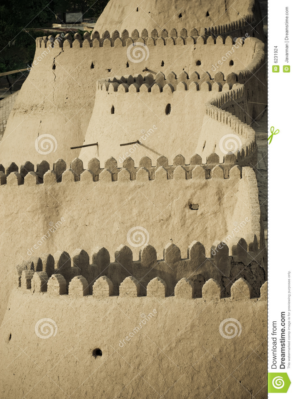 Walls of an ancient city of Khiva