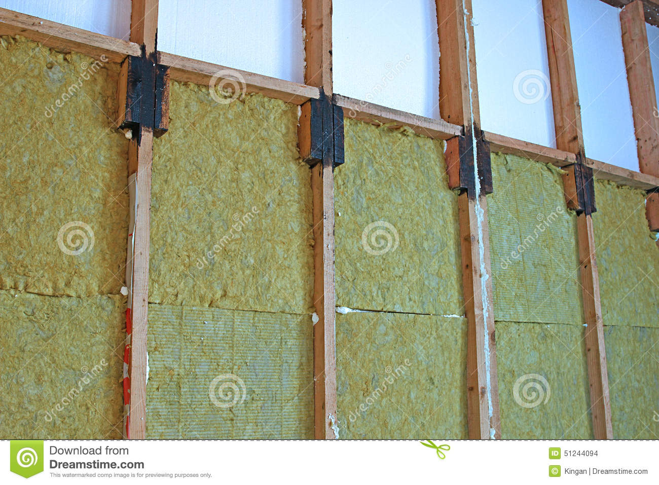 Walls Of A Frame House With Different Types Of Heat