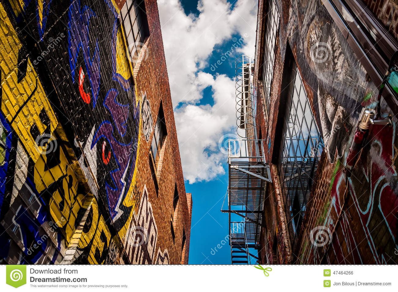 Graffiti wall baltimore - Walls Of Old Buildings In Graffiti Alley Baltimore Maryland Royalty Free Stock Image