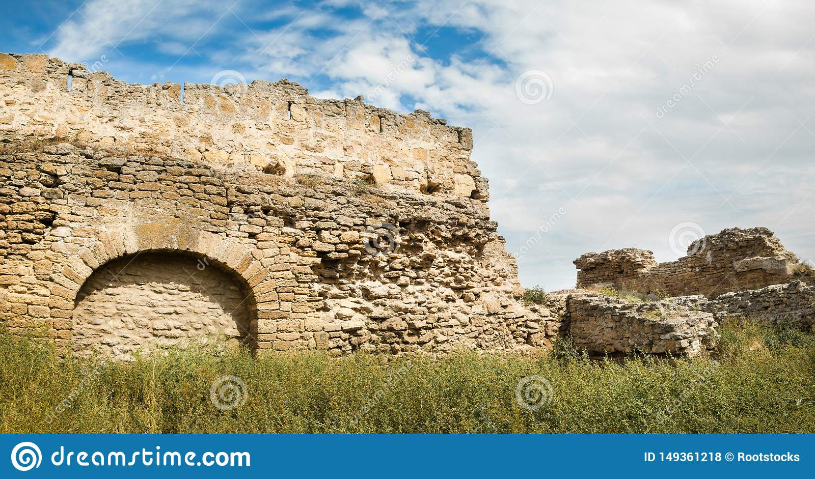 The walls of the old fortress. Akkerman in Ukraine