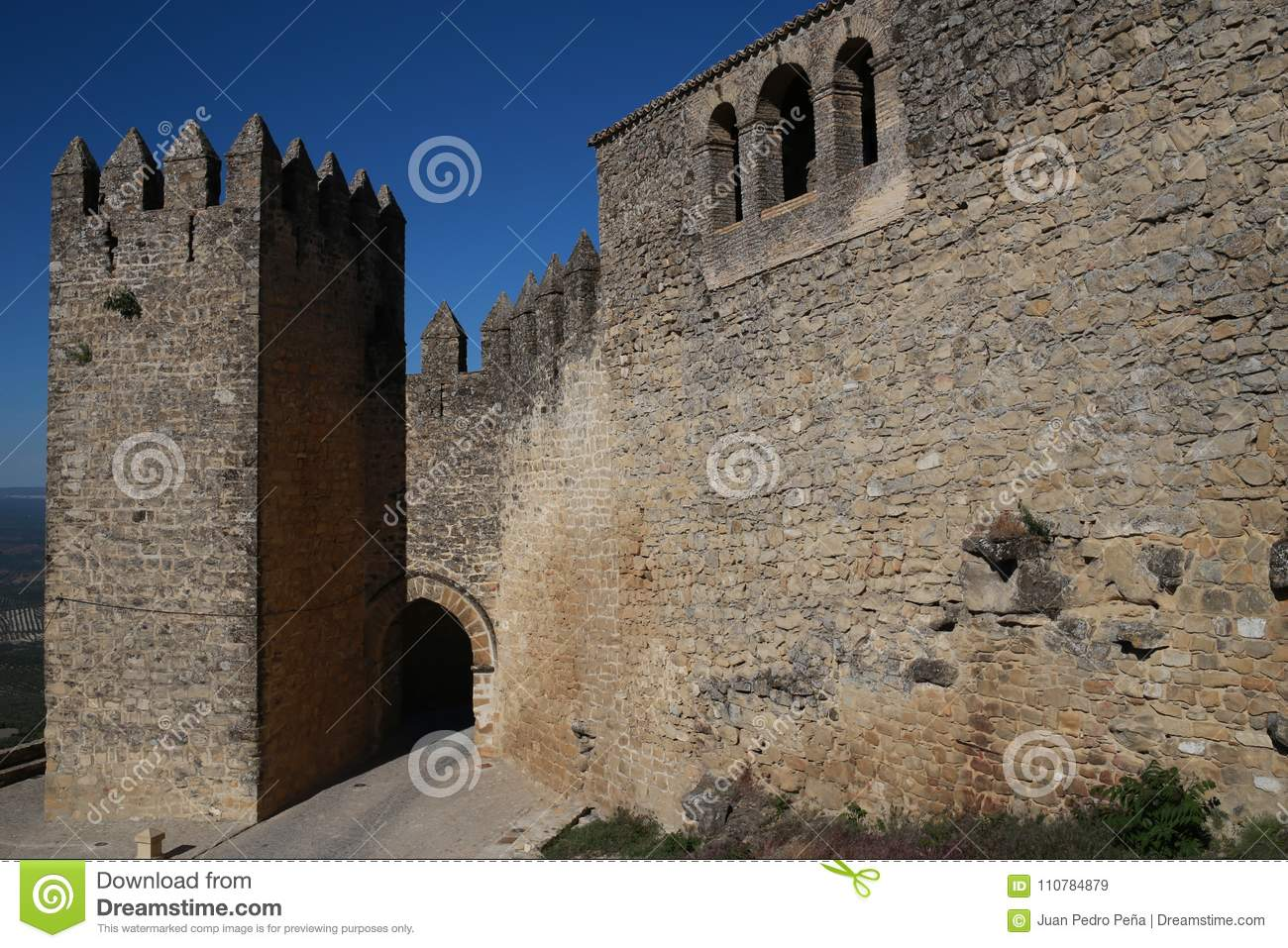 Walls of Sabiote, village of Jaen, in Andalusia