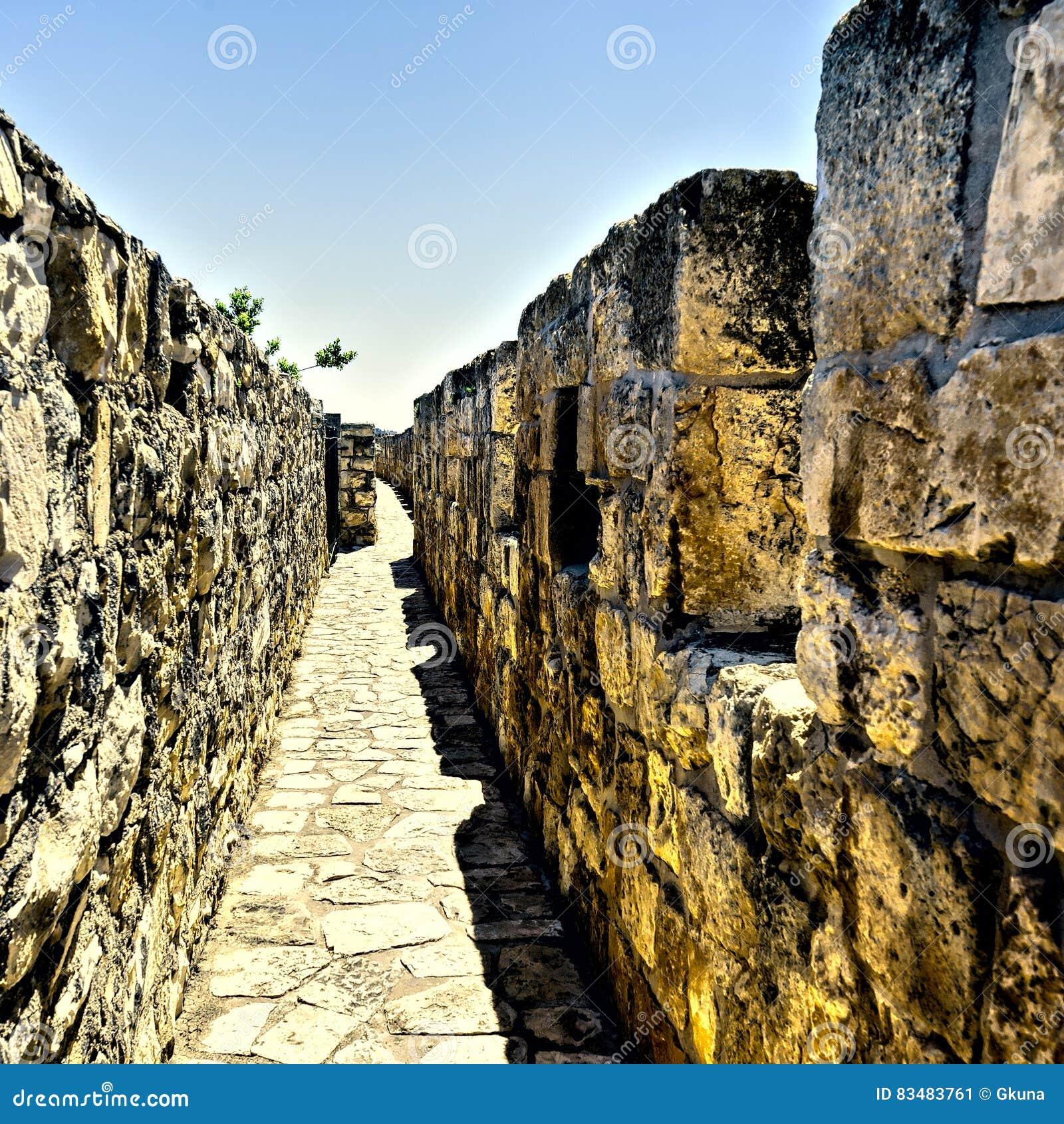 View Wall Promenade Surrounding Old City Jerusalem Israel ...   Cities Surrounding Jerusalem
