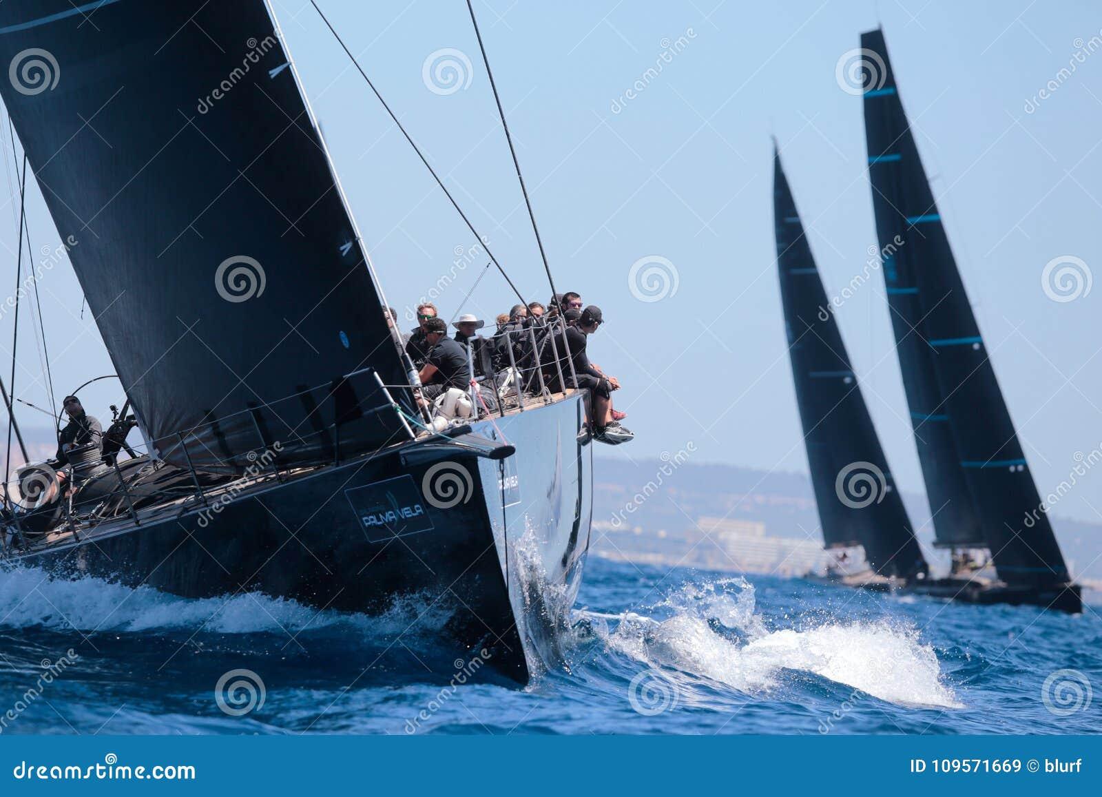 Wally klasy regatta w Mallorca