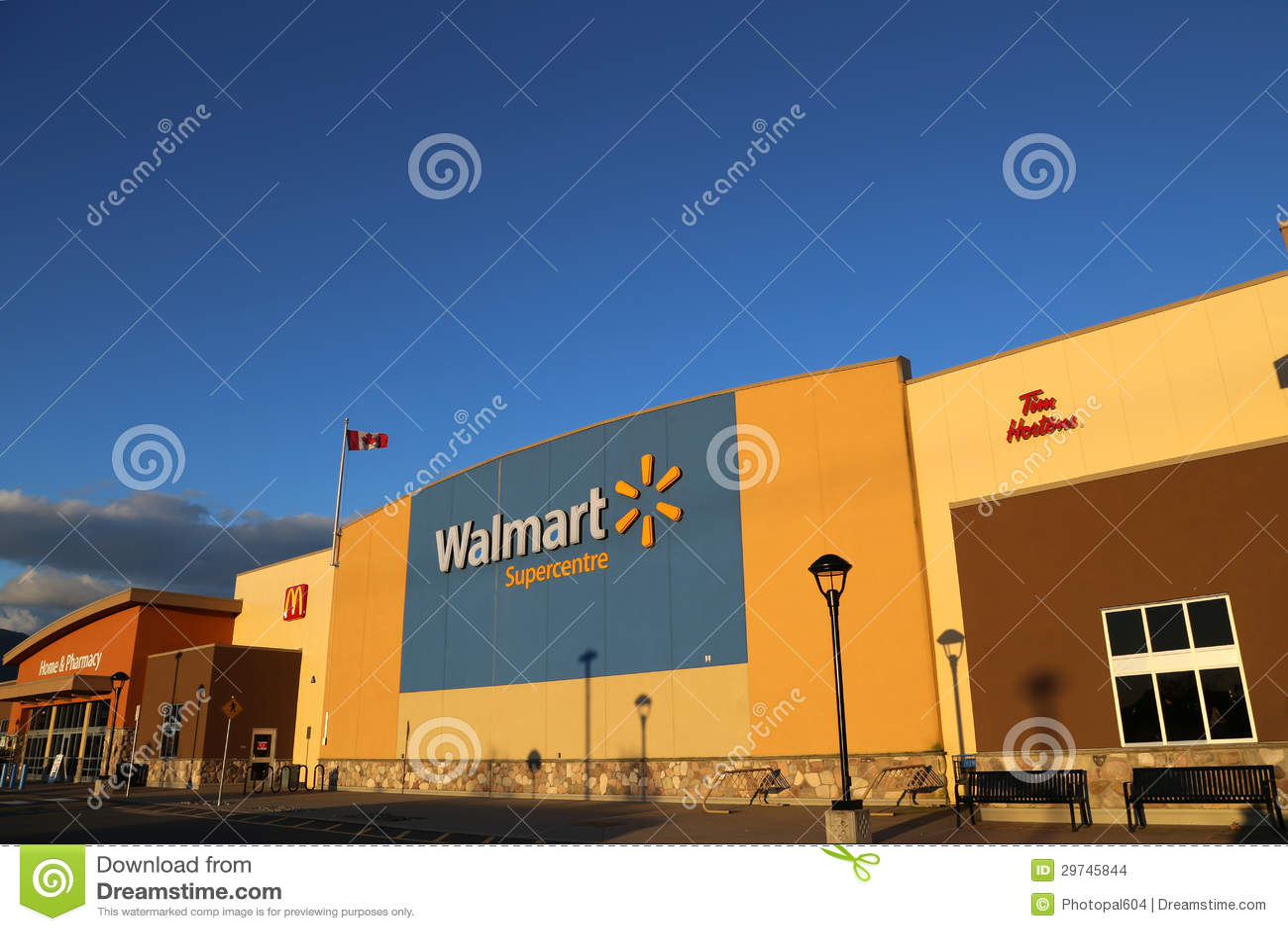 Exterior Shot Of A Walmart Store Editorial Stock Image