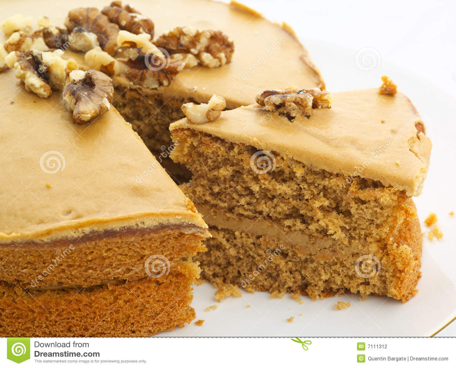 Walnut Cake Stock Photography - Image: 7111312