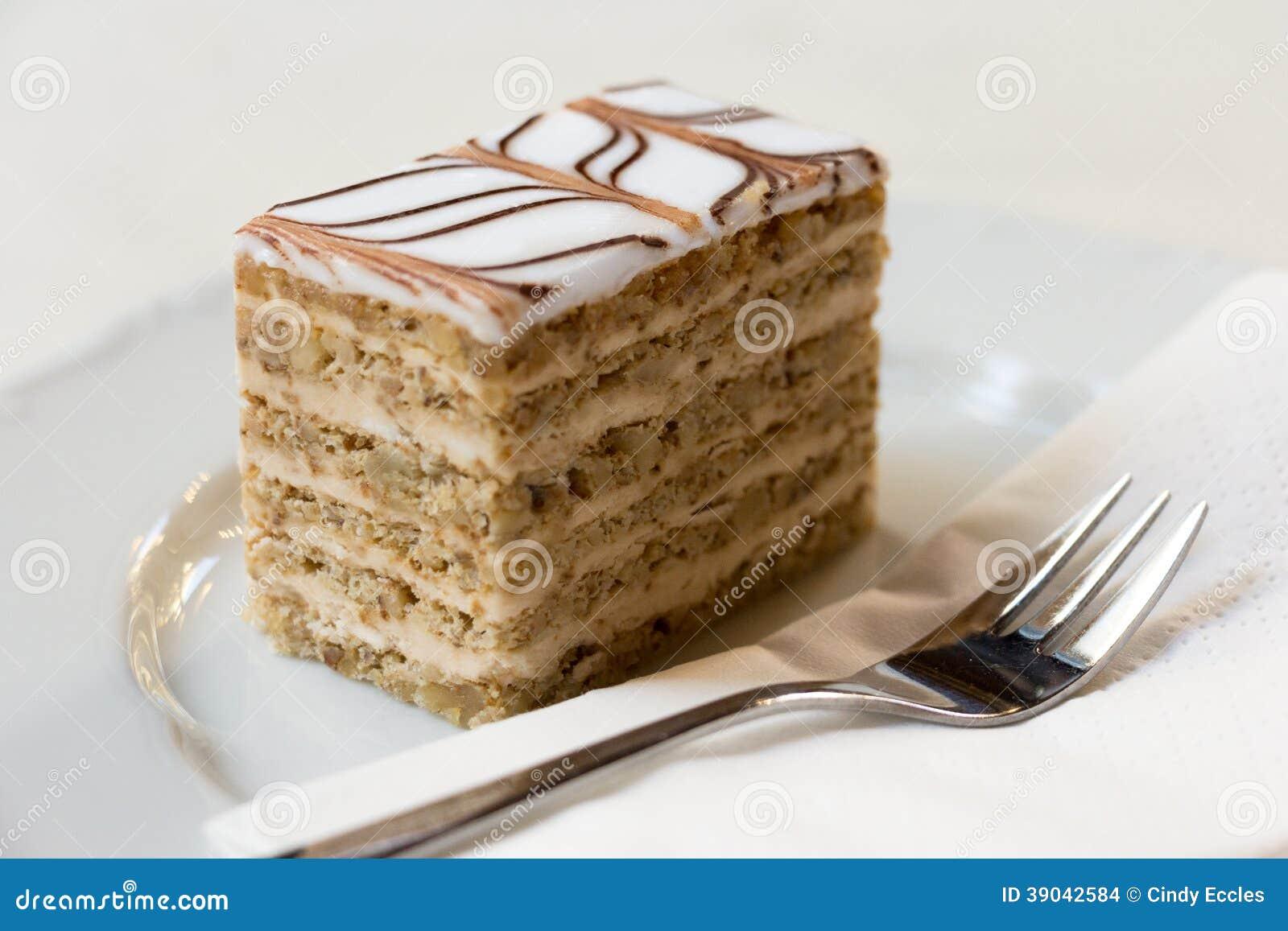 Coffee Walnut Caramel Cake