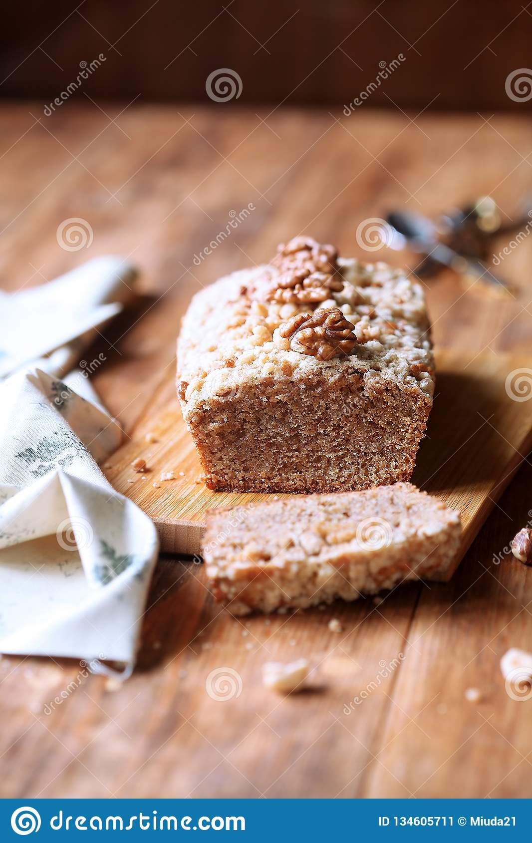 Walnut Financier - traditional French cake