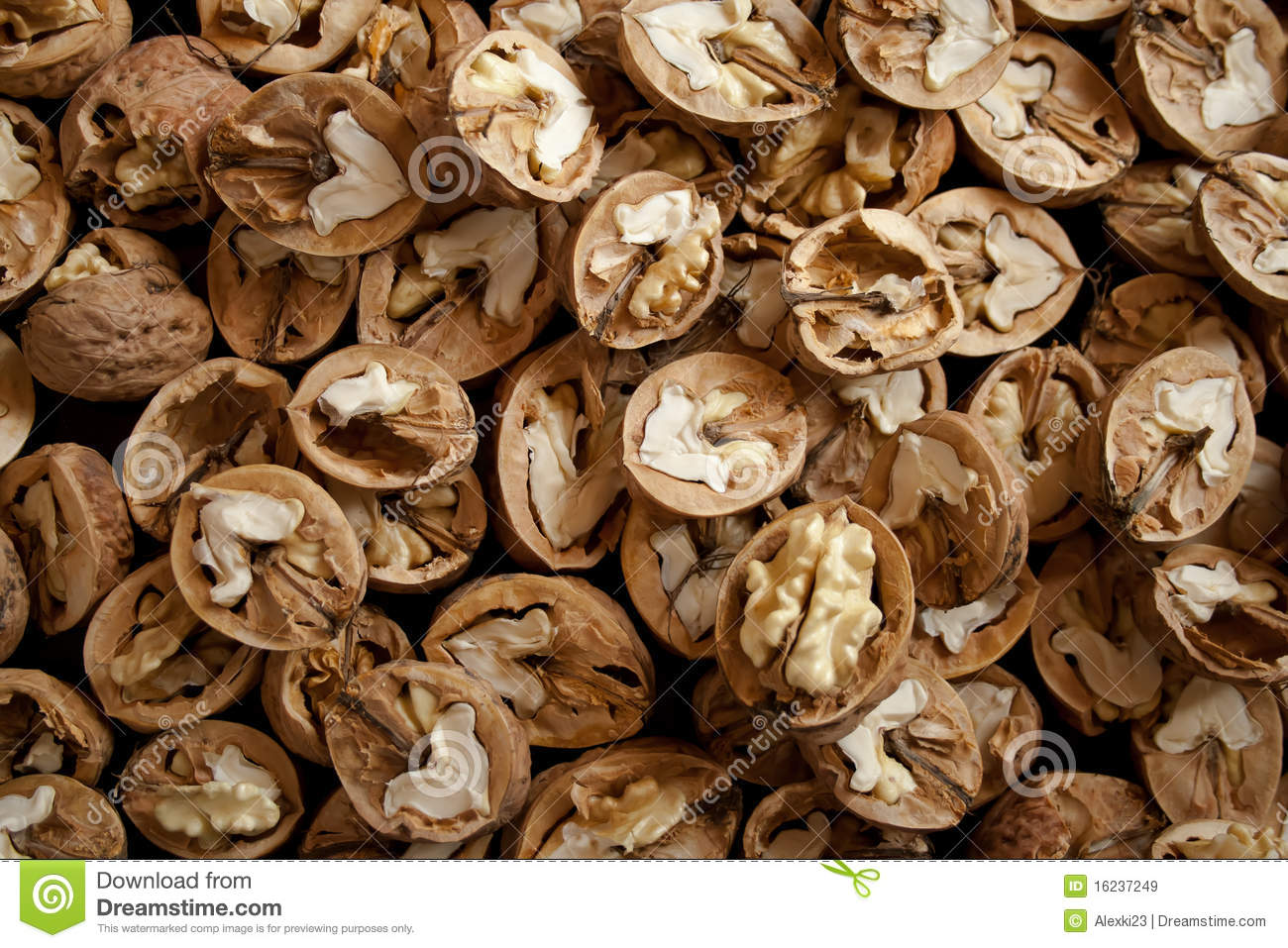Walnut Halves Royalty Free Stock Images - Image: 16237249