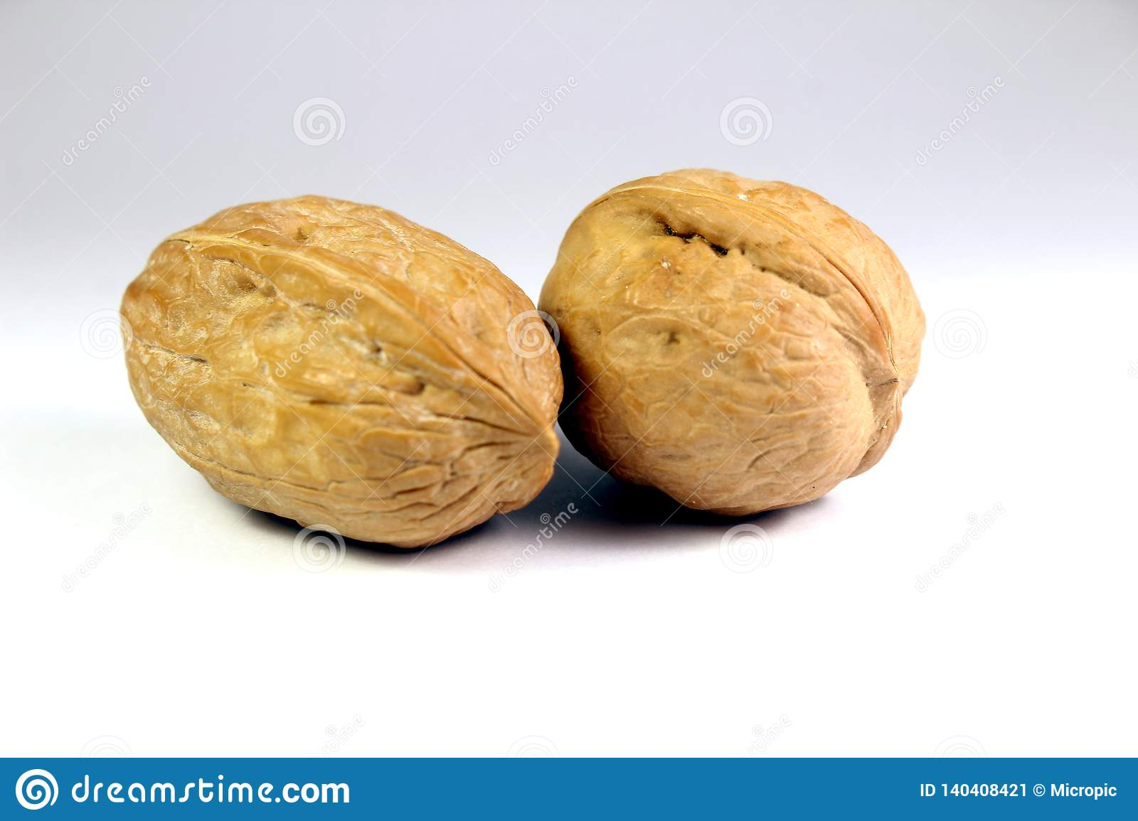 Nuts Walnut Isolated On White Background Stock Image - Image