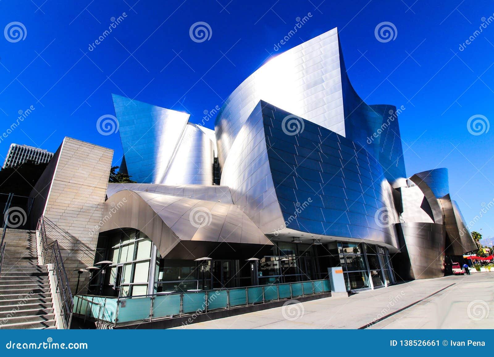 Walt Disney Concert Hall in Downtown Los Angeles. California