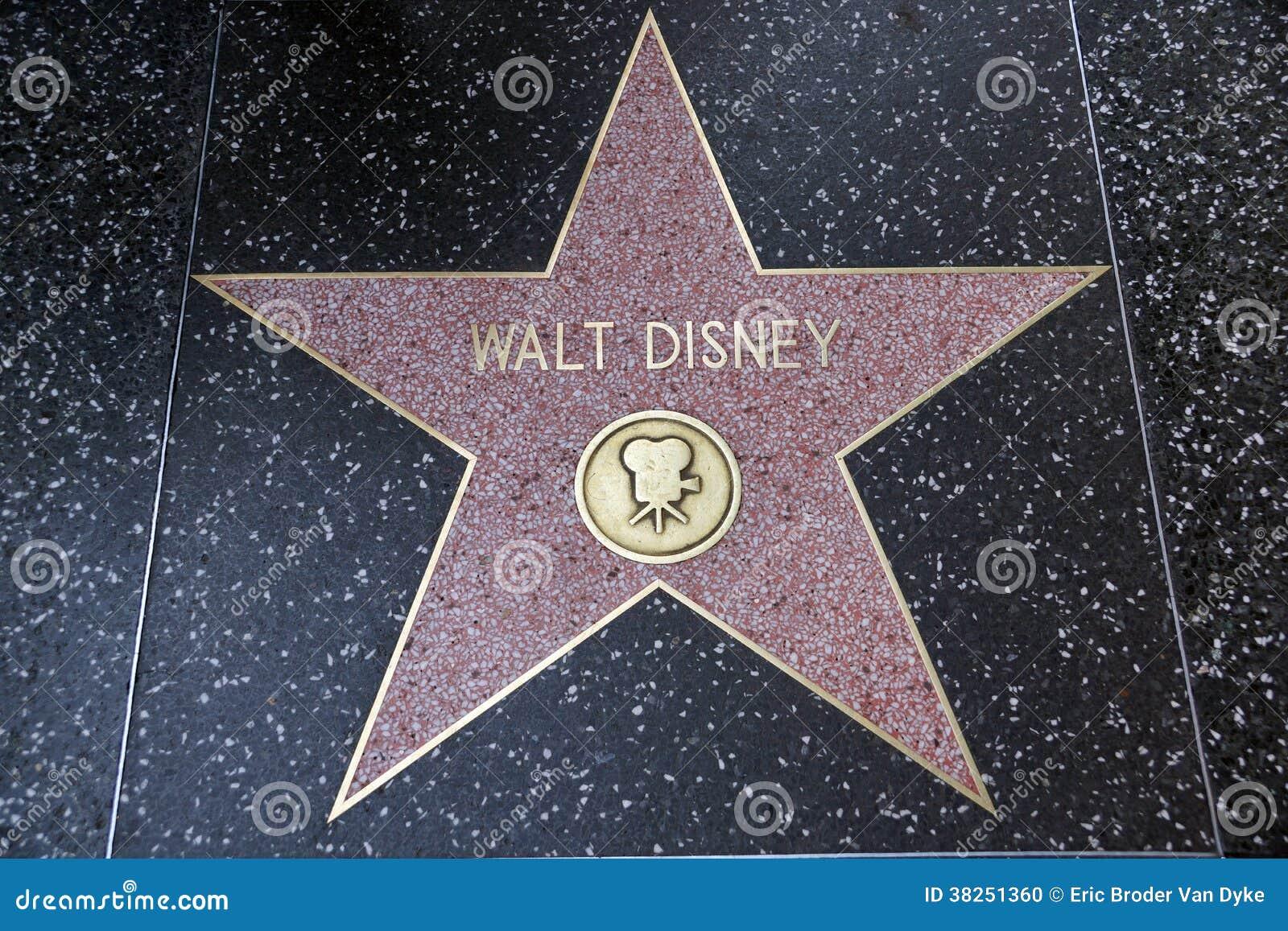 walt disney s star on hollywood walk of fame editorial