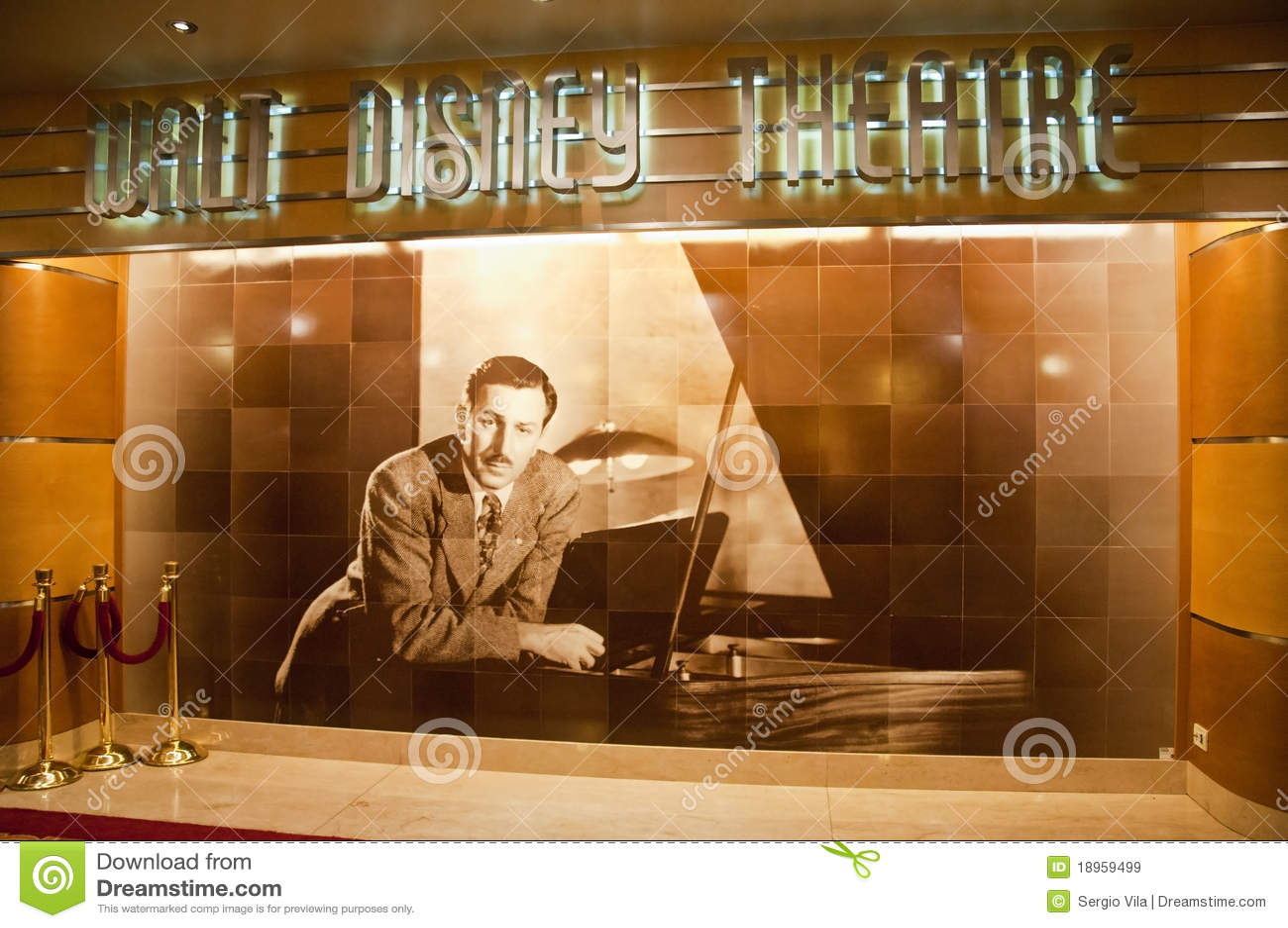 Walt Disney Theatre Editorial Stock Image Image 18959499