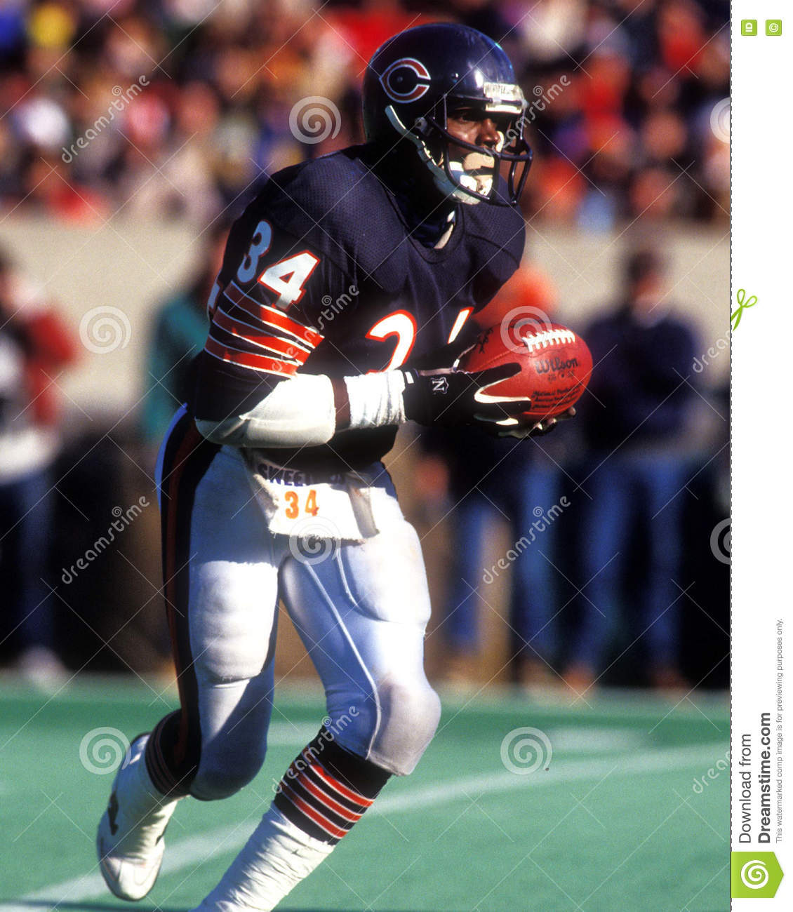 newest 2e296 6c717 Walter Payton Chicago Bears Editorial Photography - Image of ...