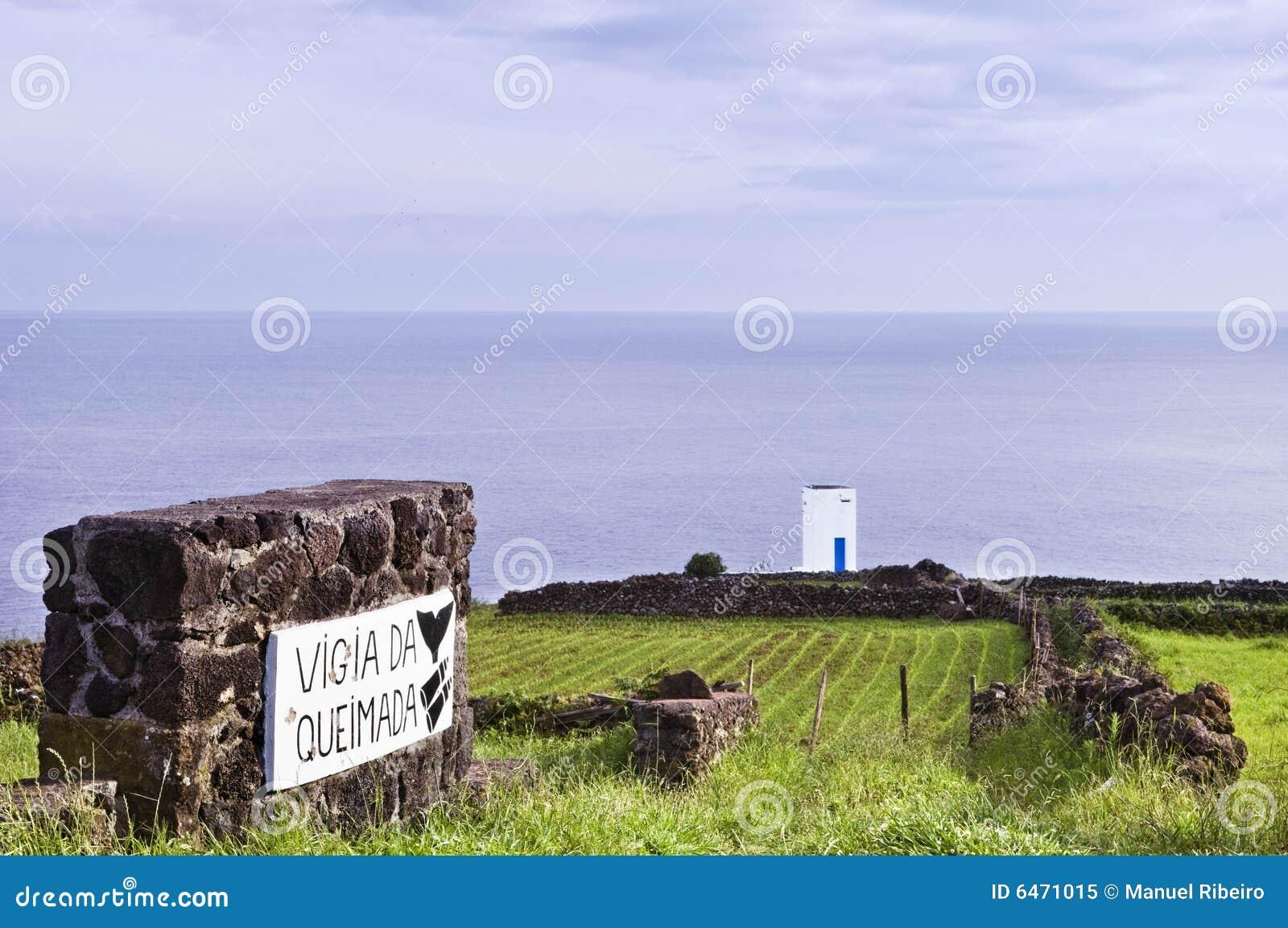 Waluhrkontrollturm in Pico, Azoren