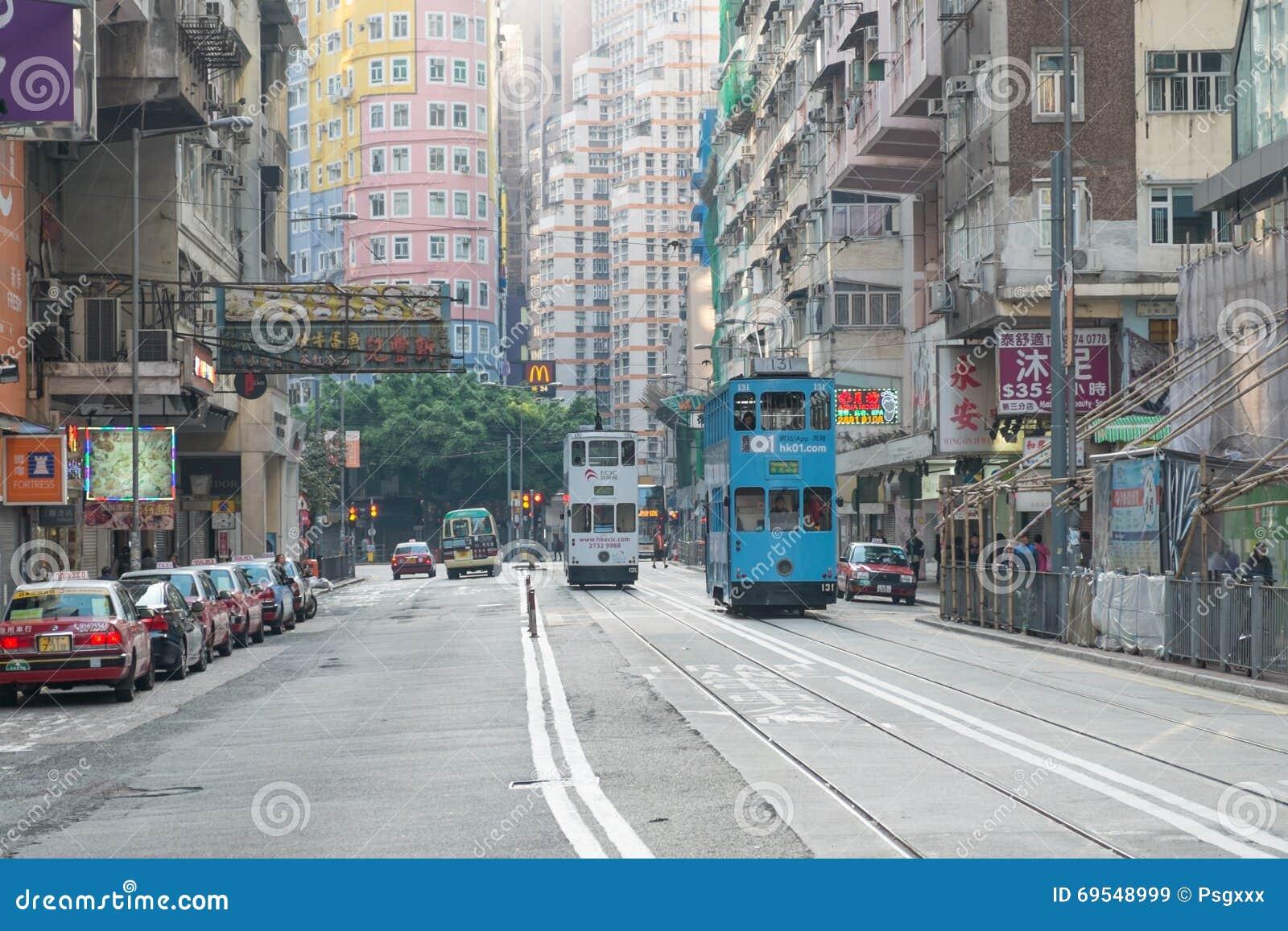 wan chai district hong kong on march 27 2016 the hong kong light