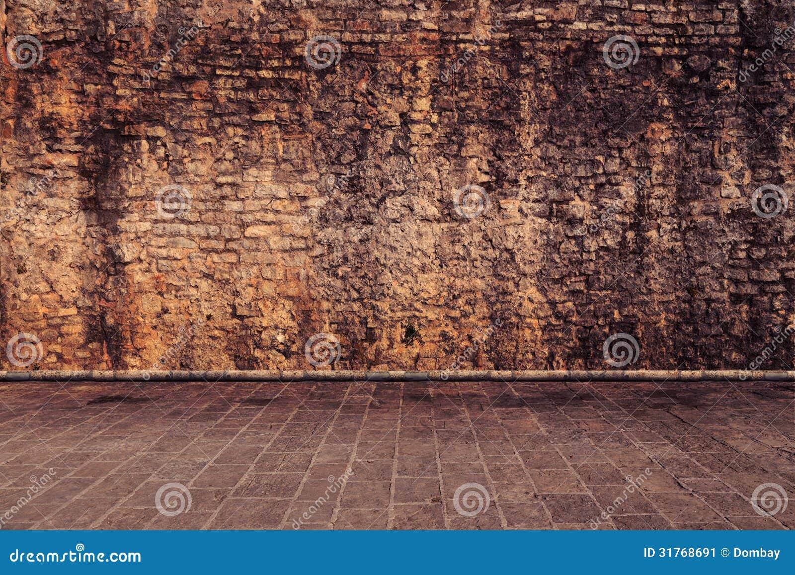 Fußboden Farbe ~ Wand in der braunen farbe stockbild bild von haus fußboden