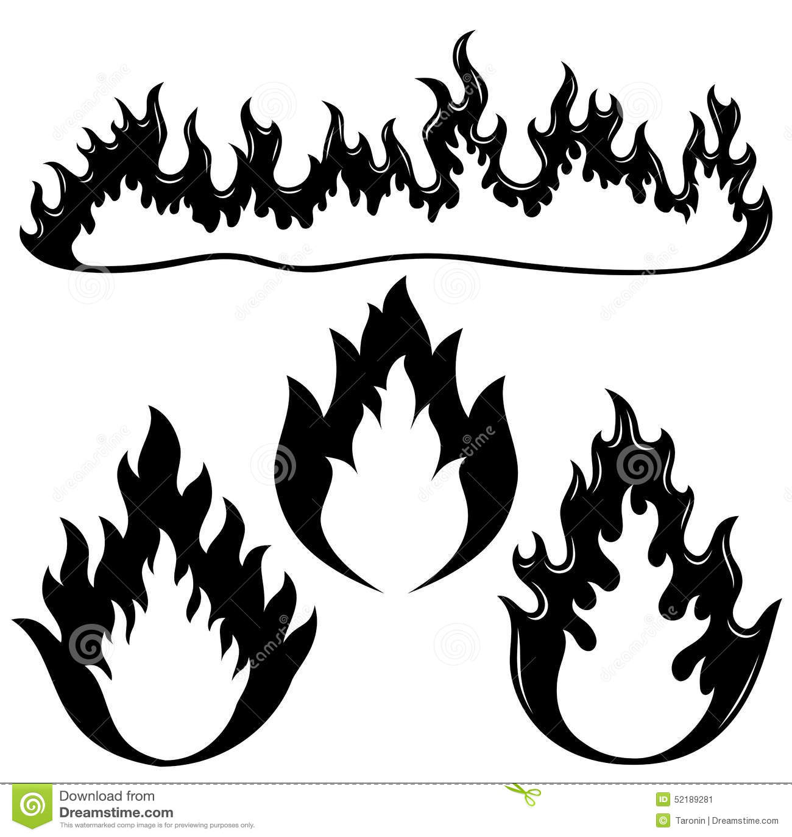 wand der flammen vektor abbildung bild von gefahr auslegung 52189281. Black Bedroom Furniture Sets. Home Design Ideas