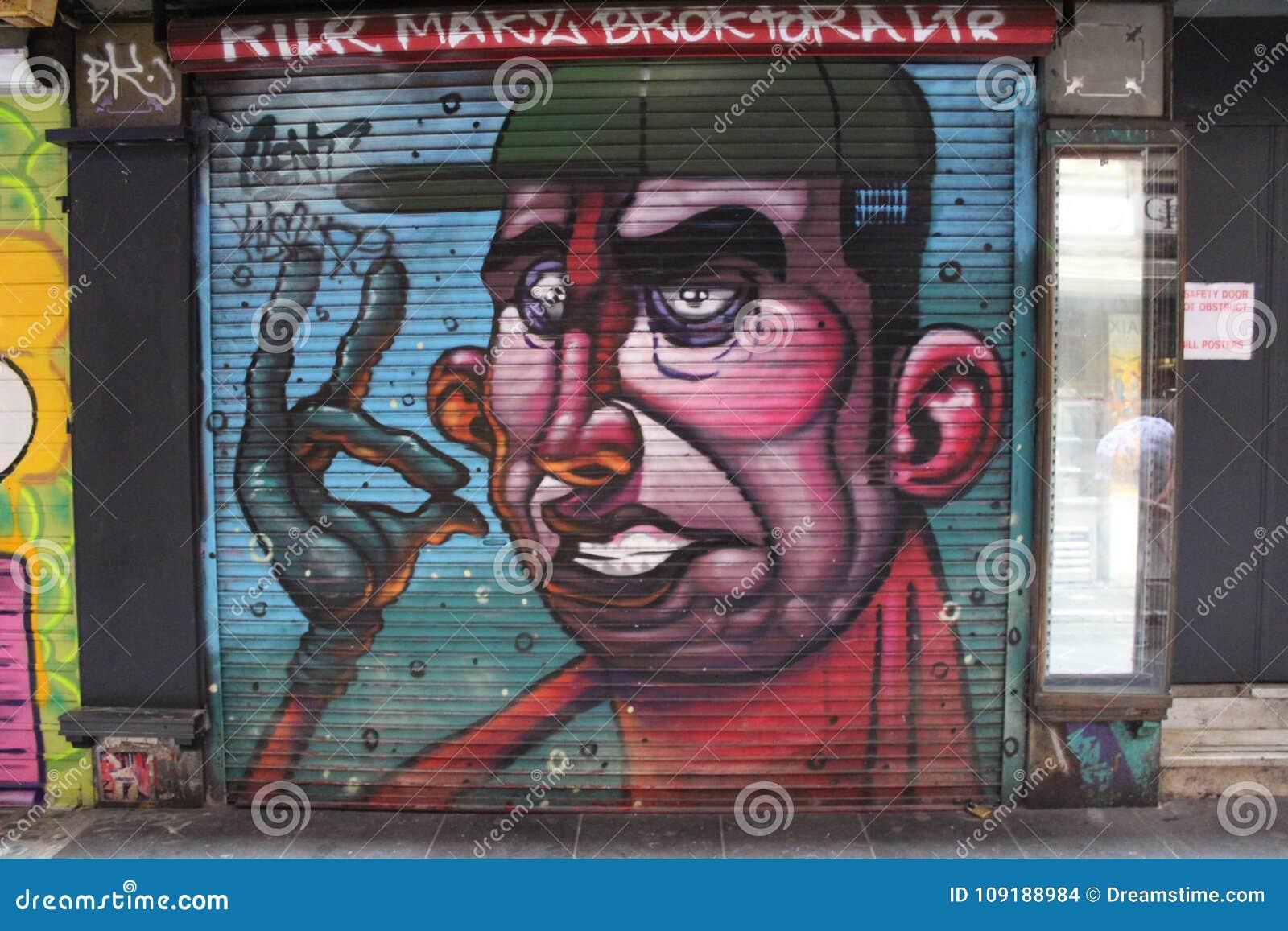 Wand der Straßen-Art