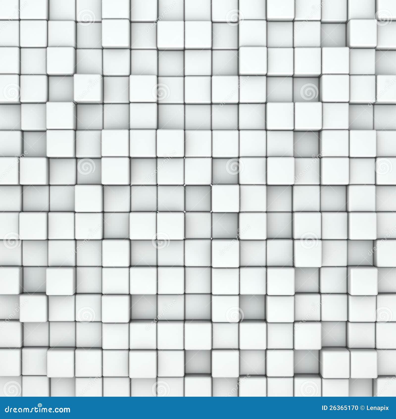 Wand der weißen Würfel