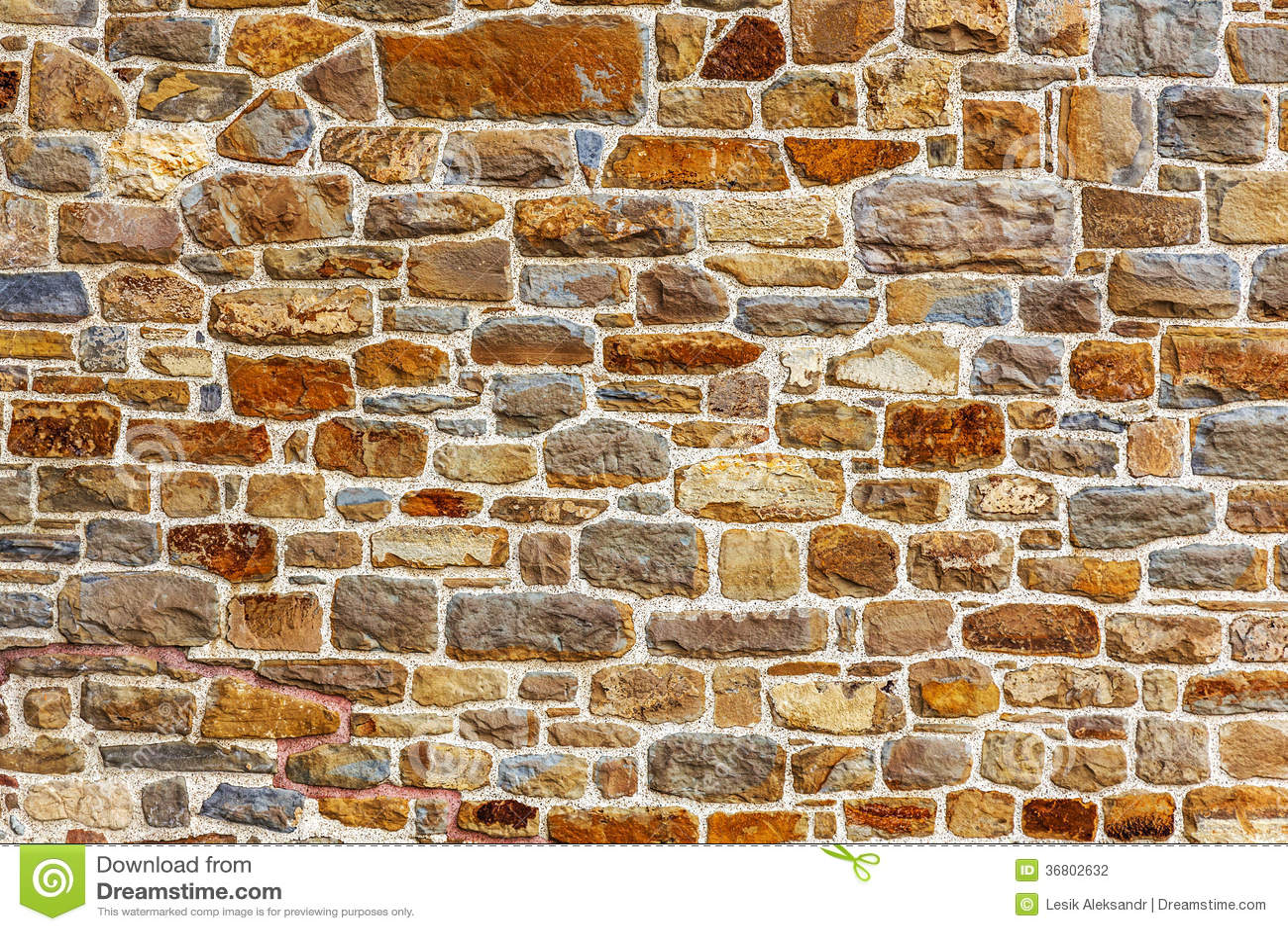 Wand Errichtet Vom Naturstein