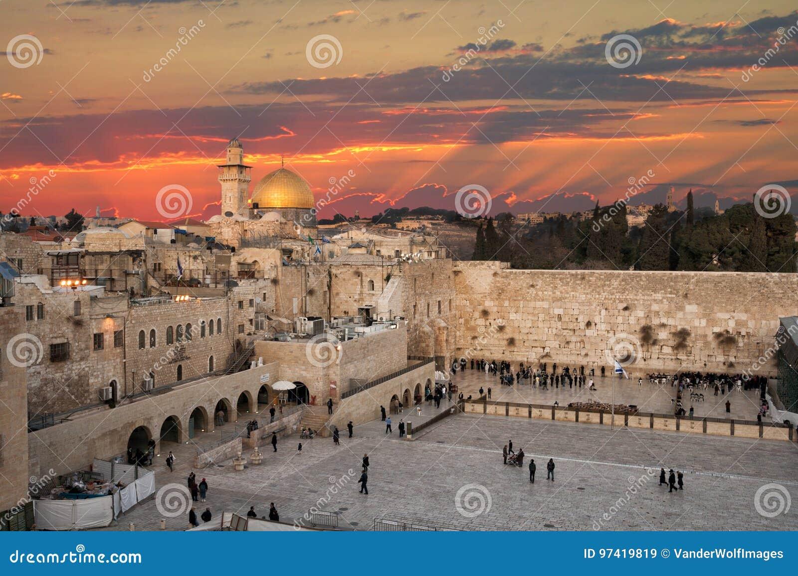 Wand Jerusalems Israel Wailing