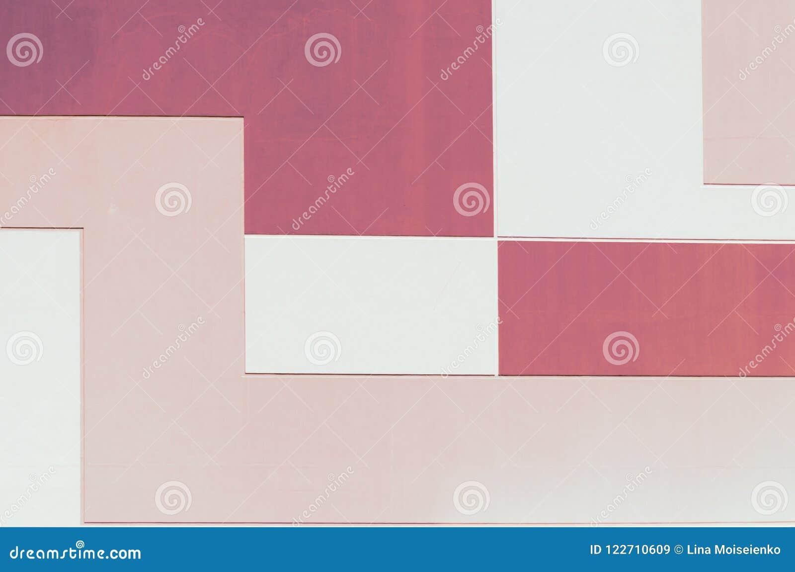 Wand in Pastell zwei färben, geometrischer abstrakter Hintergrund, rechteckige Form