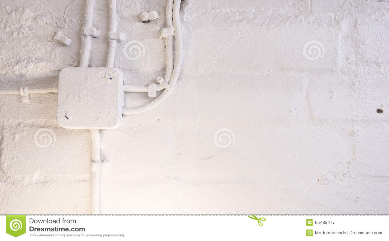 Wand- Und Kabelhintergrund In Einem Keller Stockbild - Bild von ...