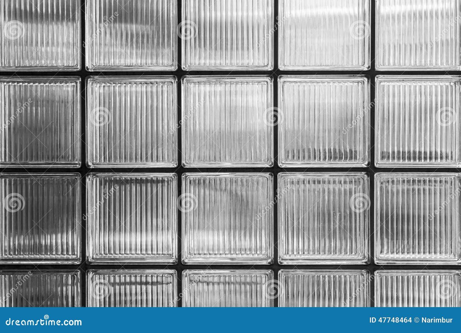 Wand von Glasbausteinen stockfoto. Bild von oberfläche - 47748464