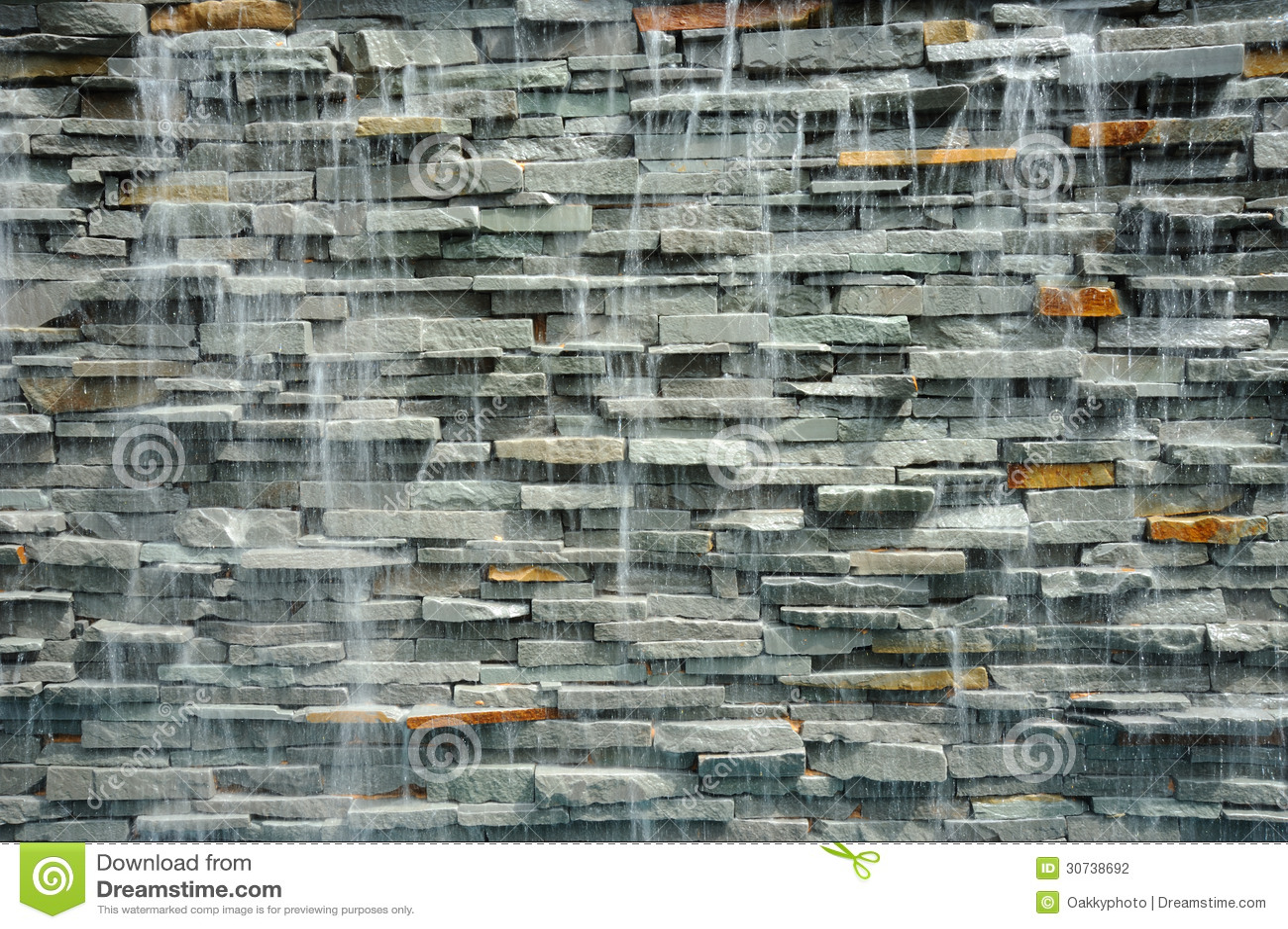 Wand Wasserfall Am Erholungsort In Thailand Stockfoto Bild