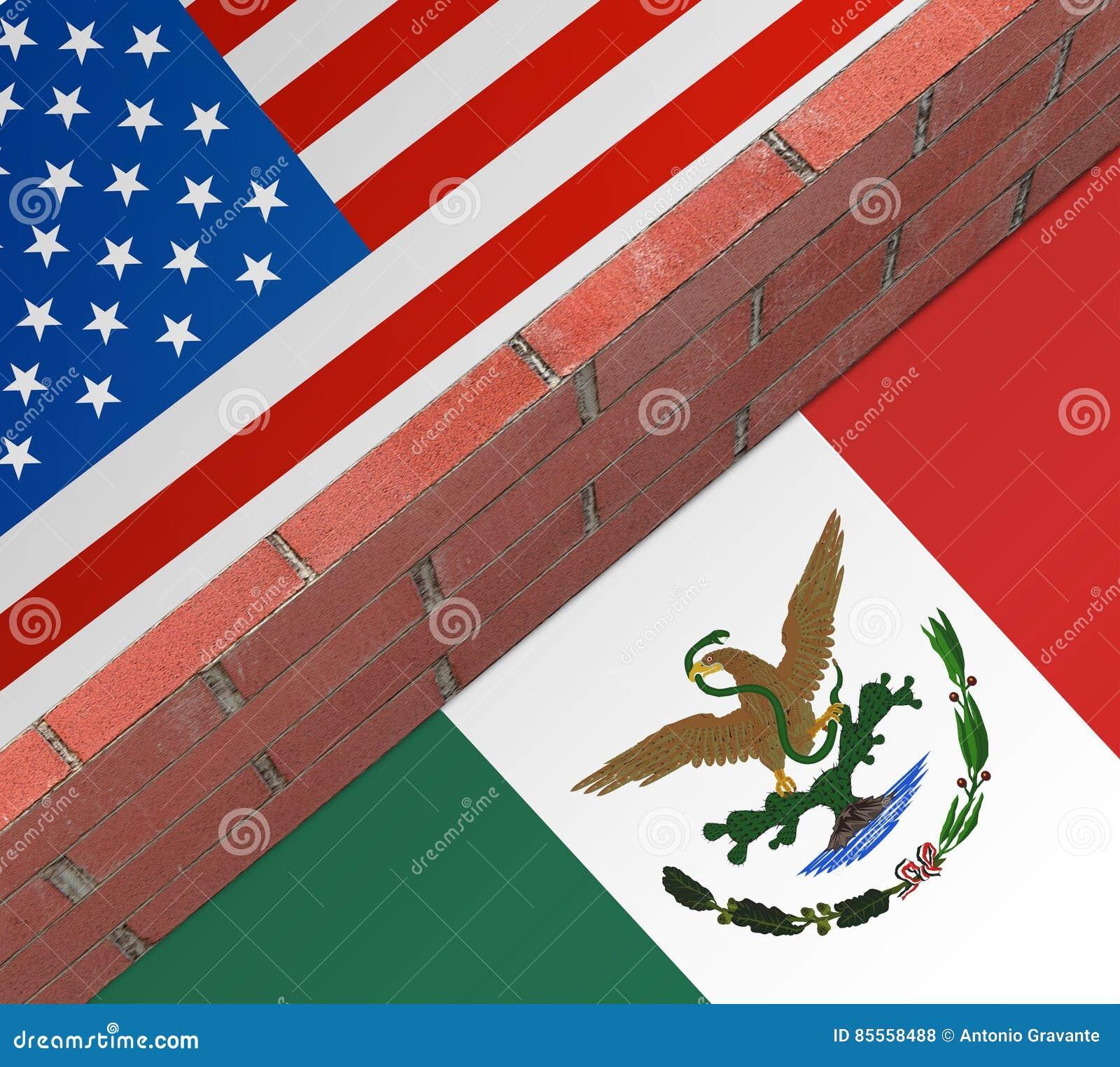 Wand zwischen den US und dem Mexiko
