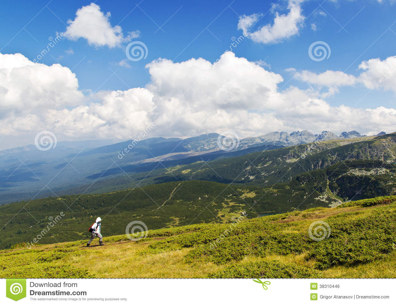 Wandelaar in de berg