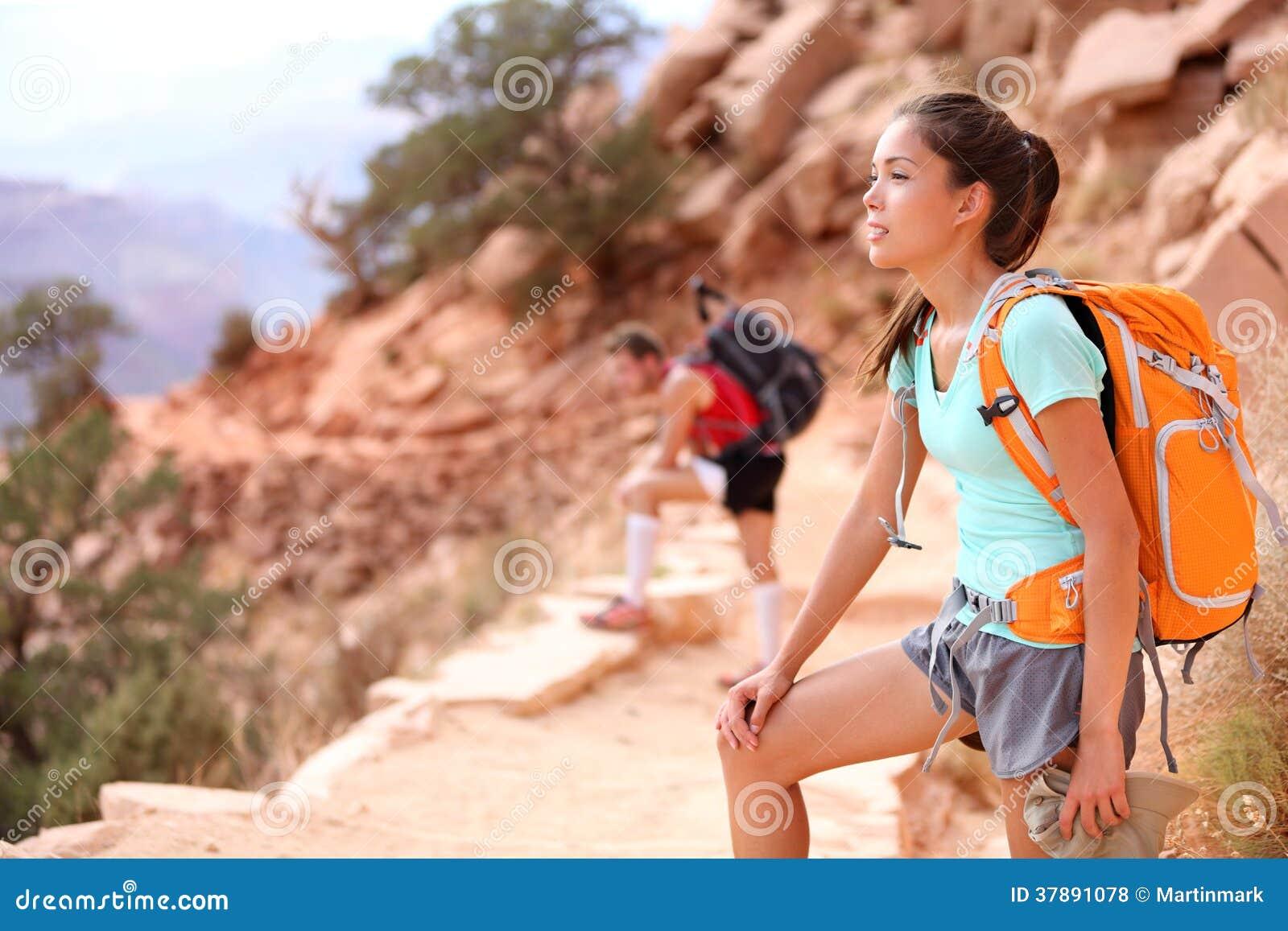 Wandelaar in Grand Canyon