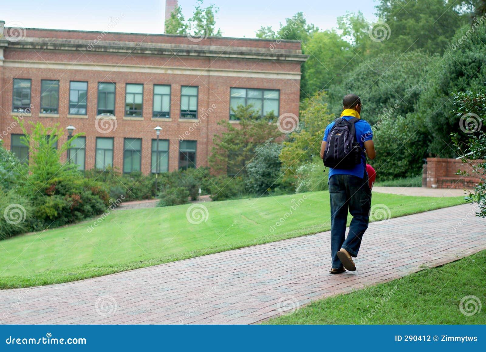 Wandelende student