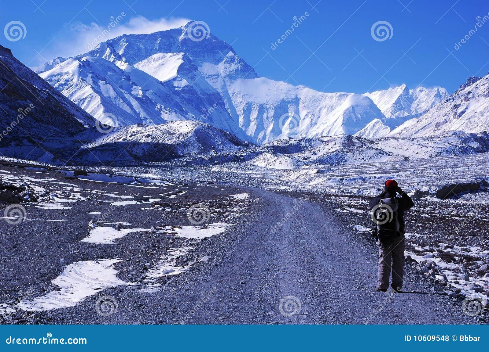 Wandeling aan BC van Everest
